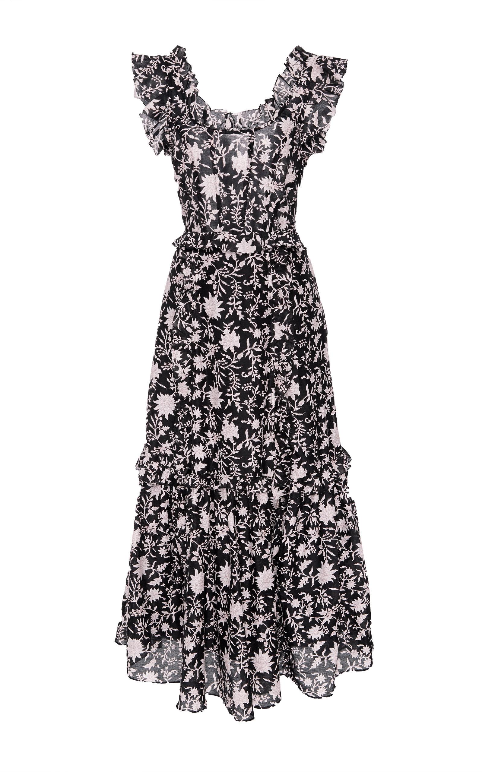 BRIGITTE FLORAL ORGANZA DRESS