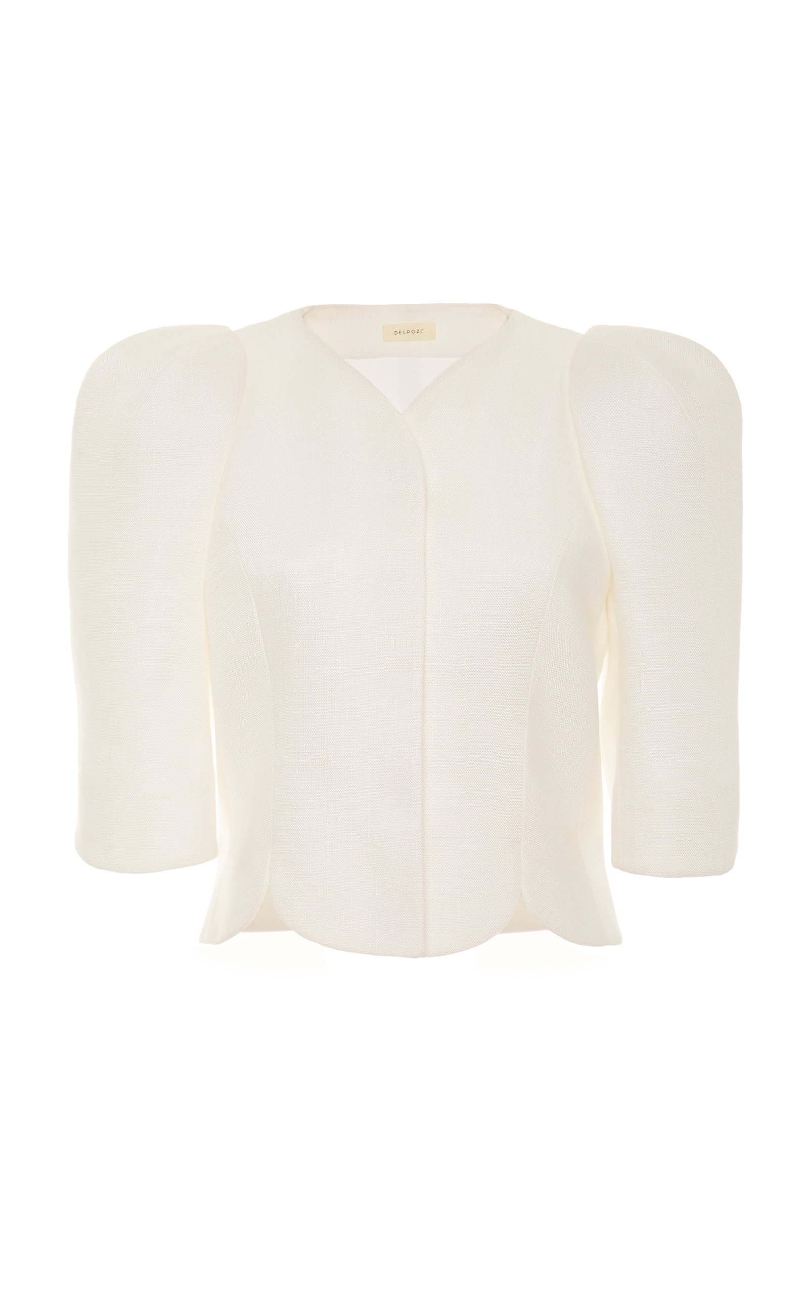 CROPPED PUFF-SLEEVE TULIP JACKET