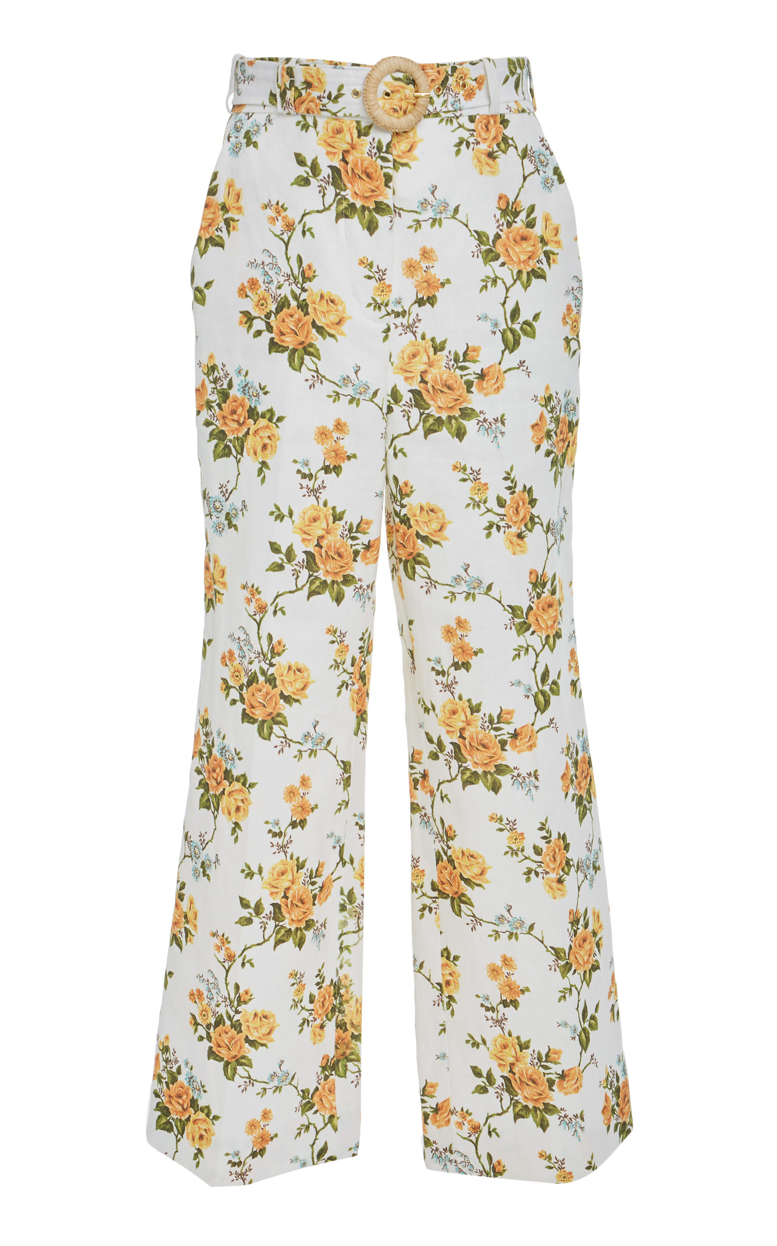 Belted Cropped Flared Pants Zimmermann BlPxe