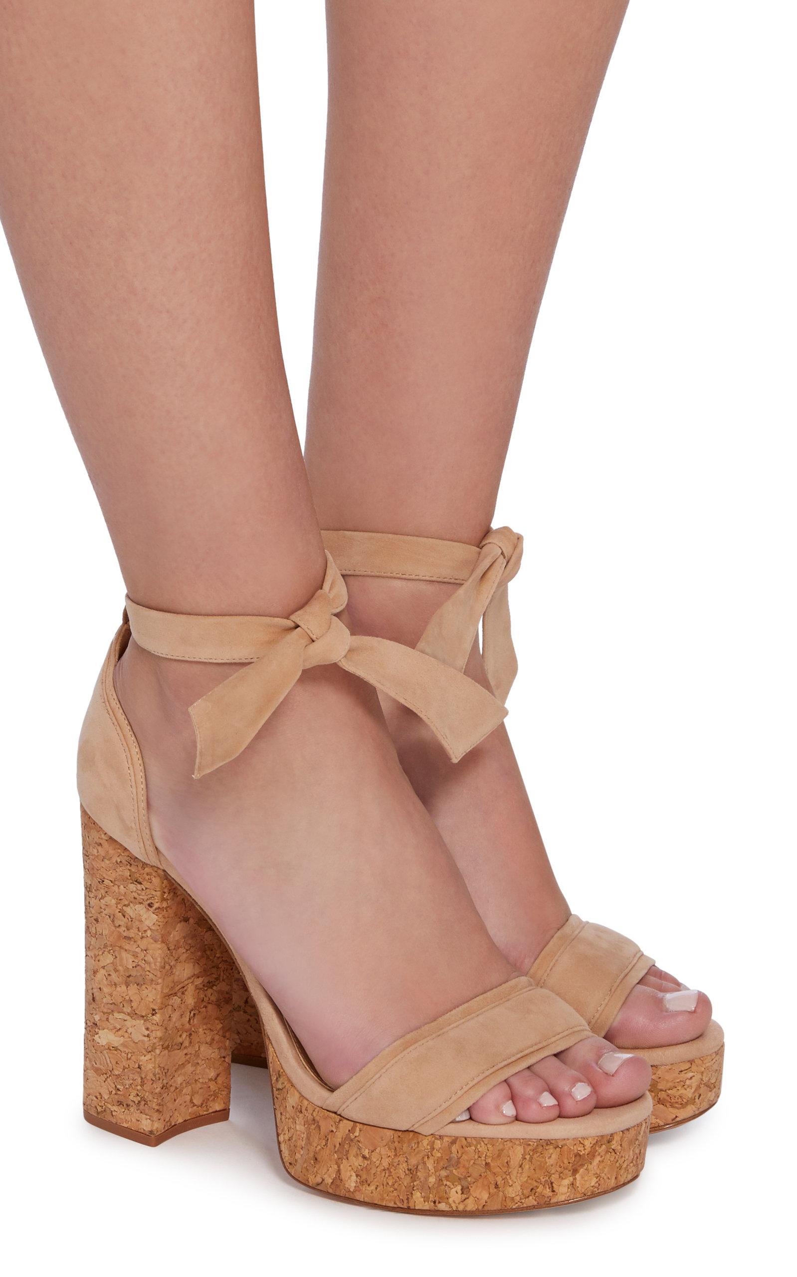 ALEXANDRE BIRMAN Celine Suede Platform Sandals picJV60R