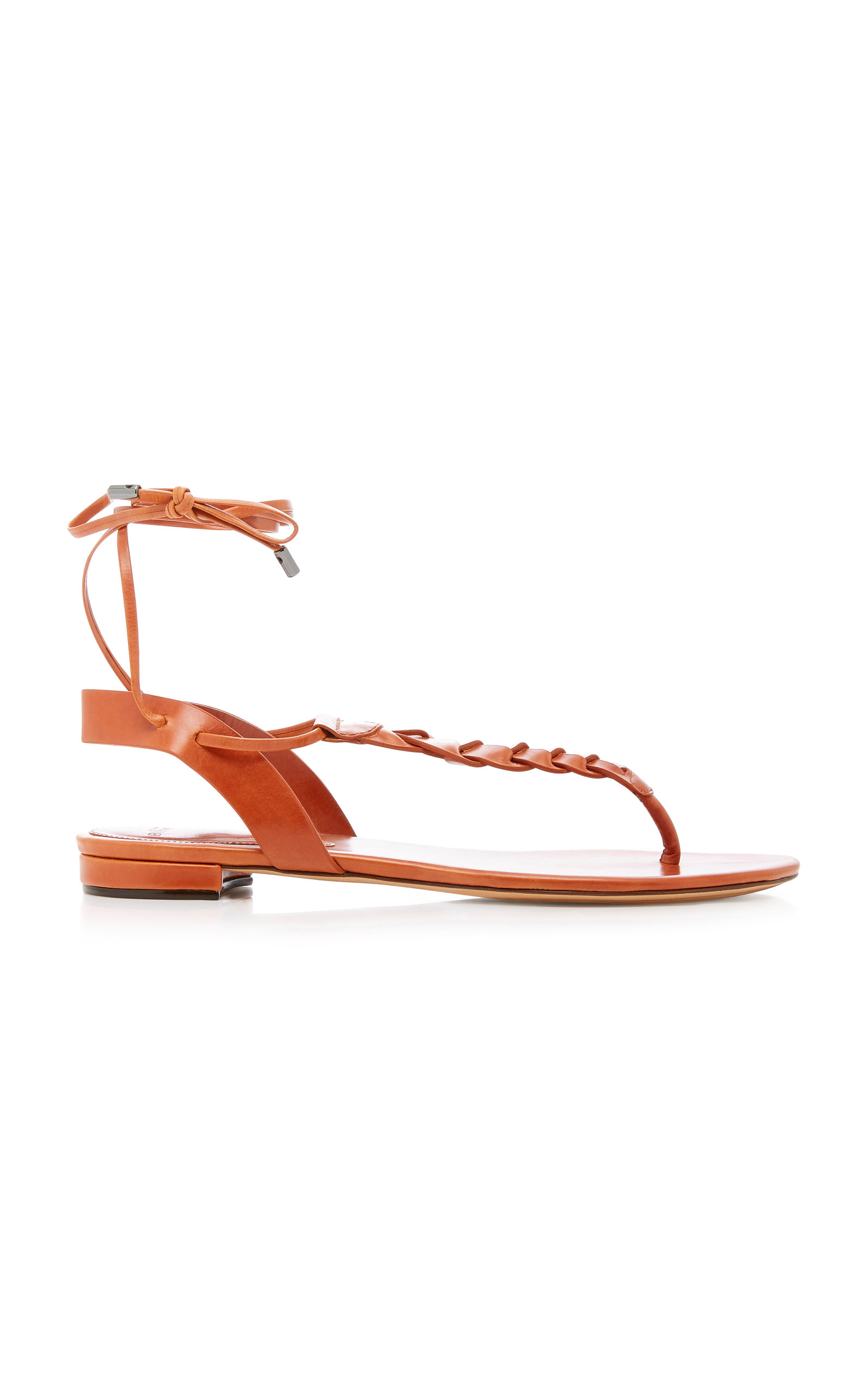 ABRIELLE LEATHER LACE-UP SANDALS