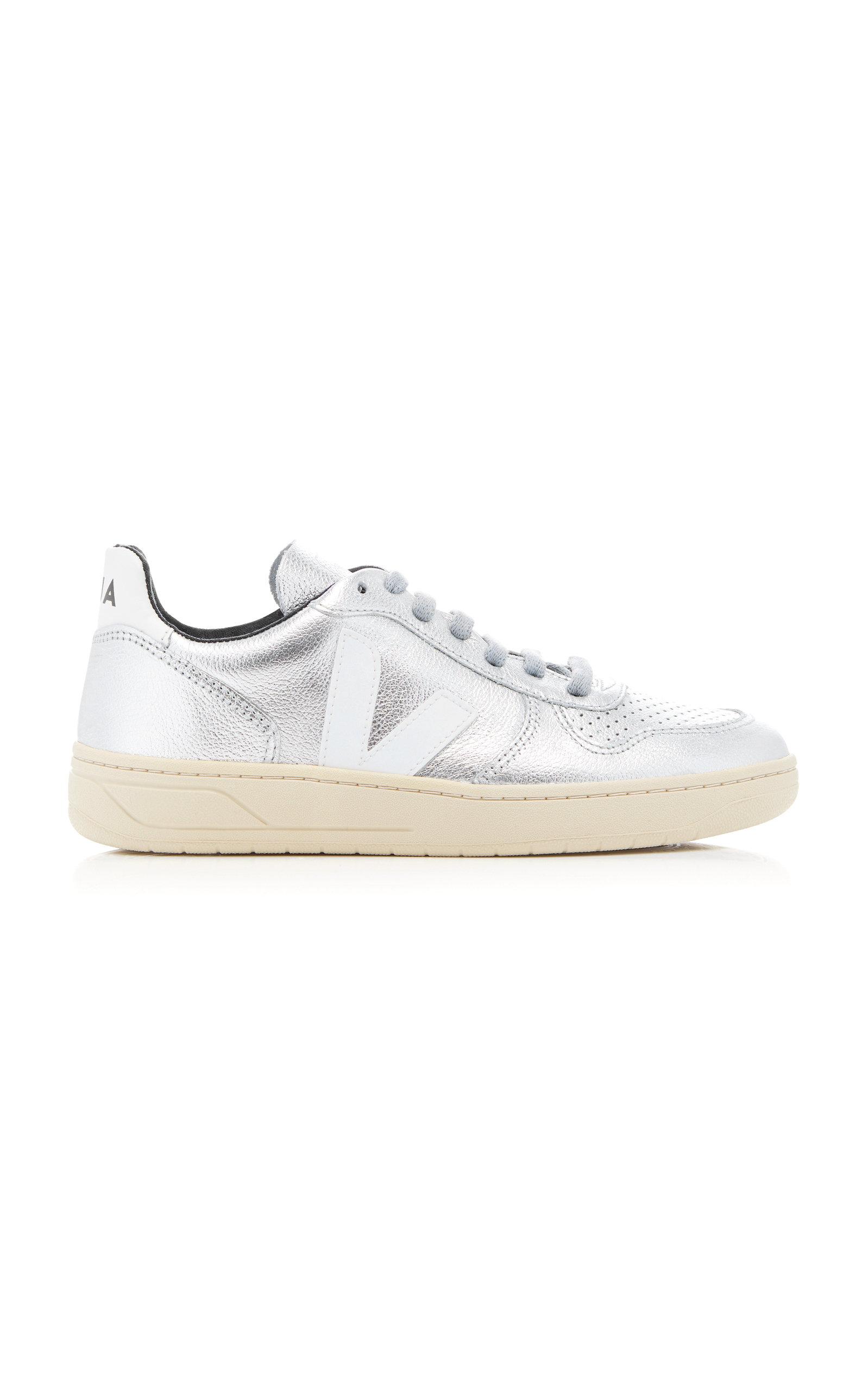 V10 Metallic Leather Sneaker Veja mpz1bOO