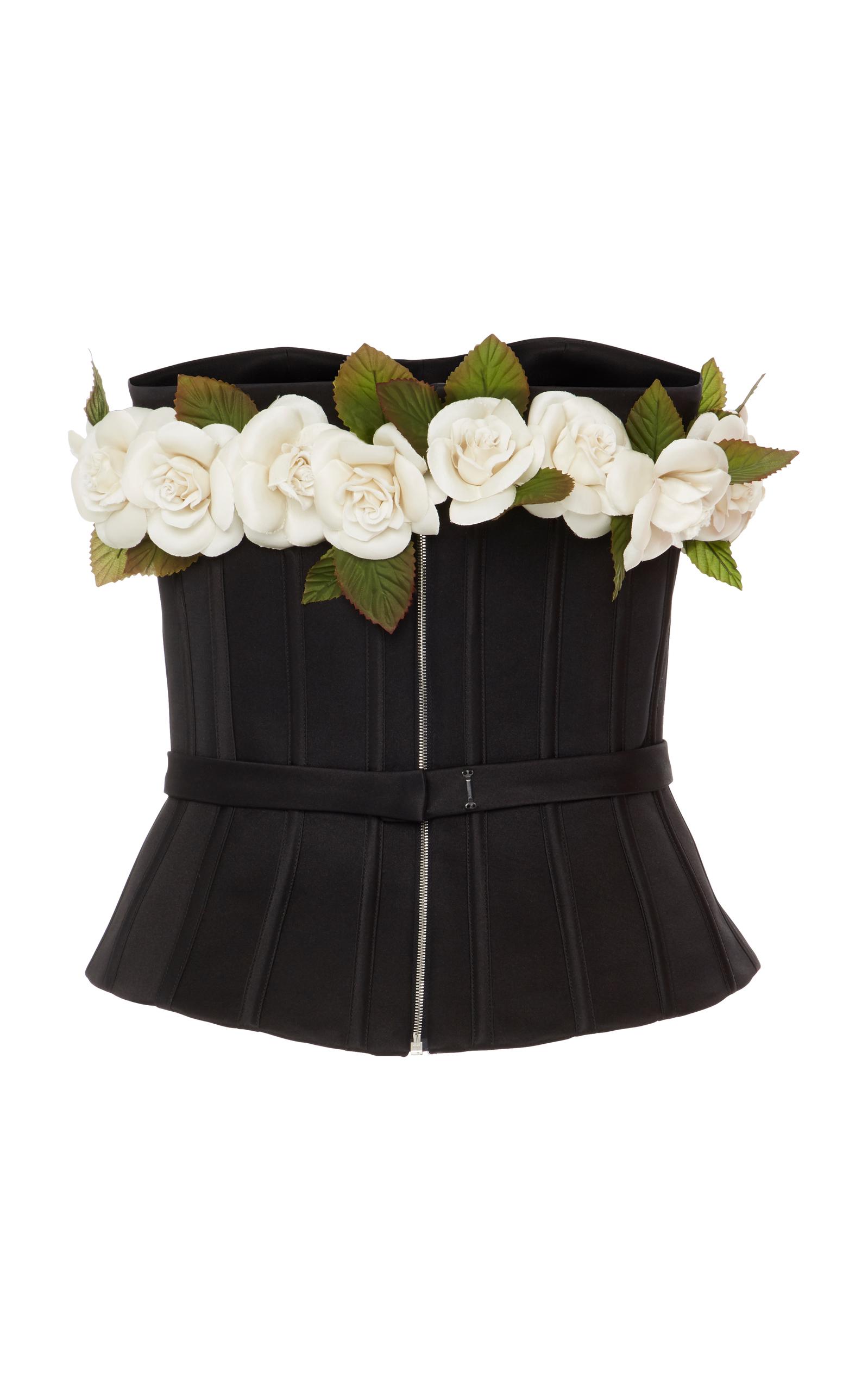 Corset Top With Flowers By Elizabeth Kennedy Moda Operandi