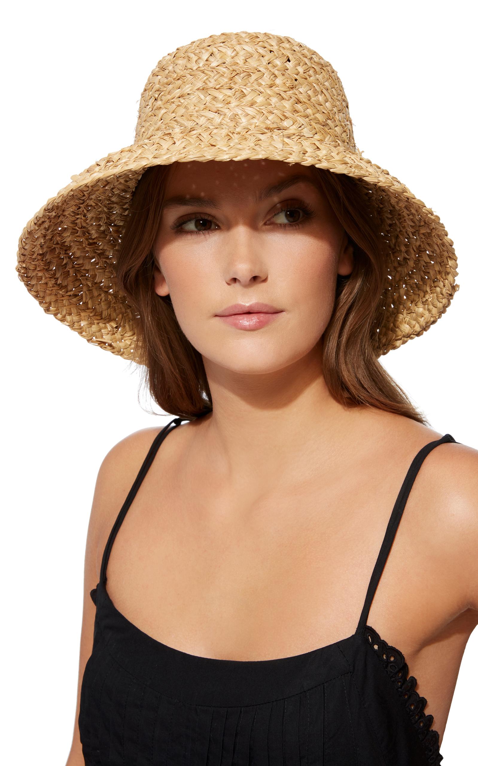 Sydney Woven Straw Bucket Hat by Janessa Leone  d9cf8715618
