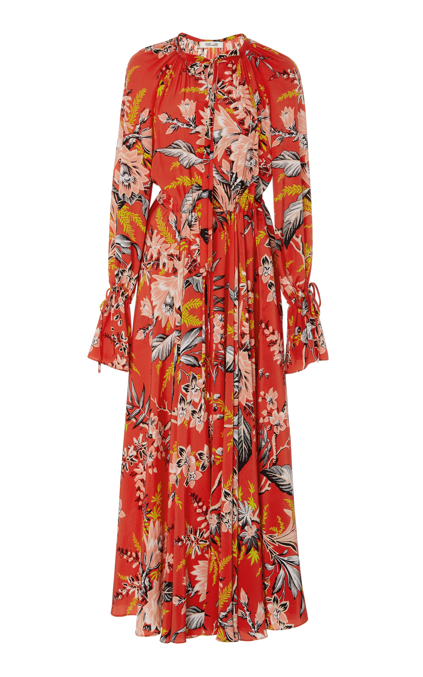 Bethany Floral-Print Silk Crepe De Chine Maxi Dress