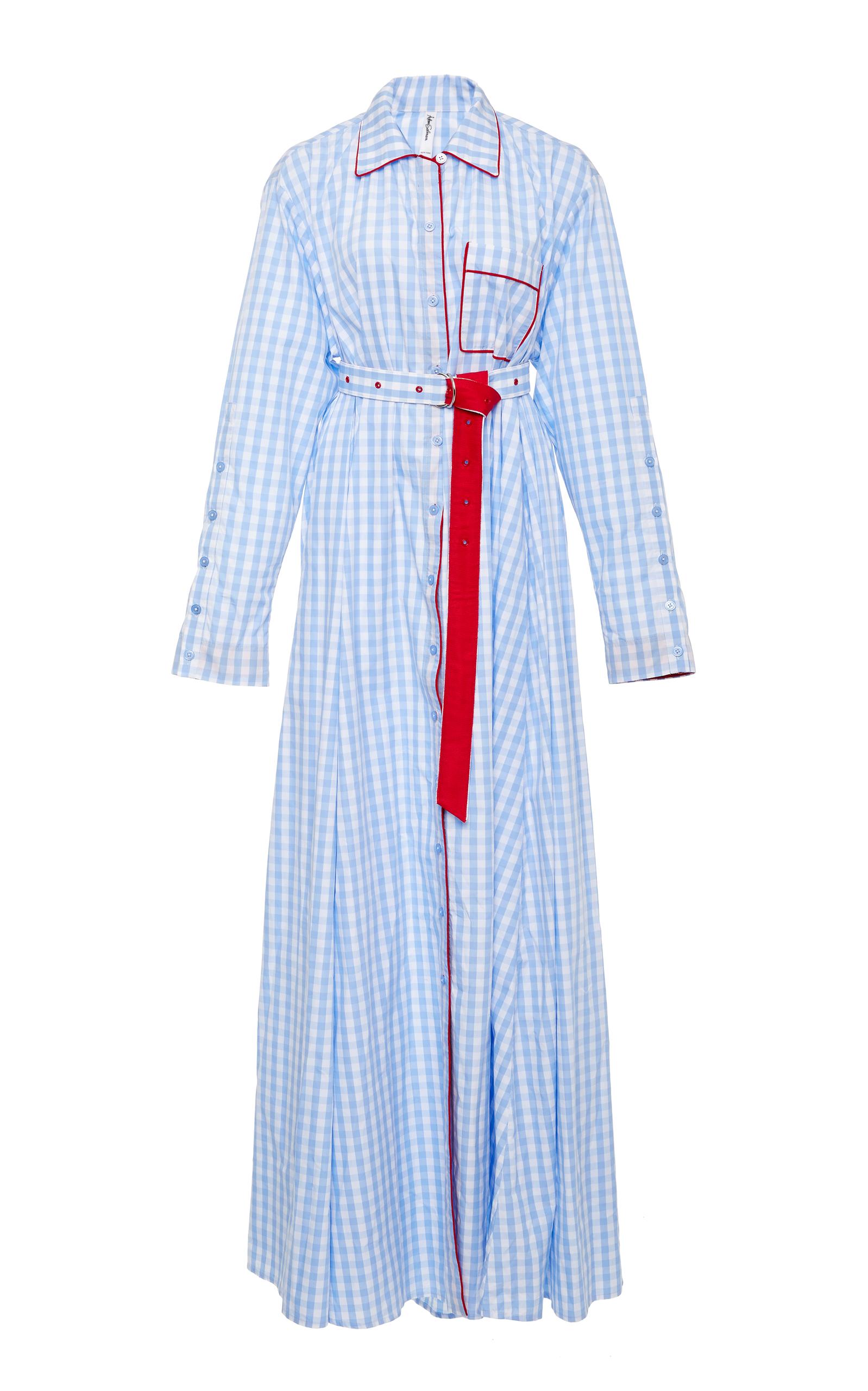 Floor Length Pijama Shirt Gown by Adam Selman | Moda Operandi