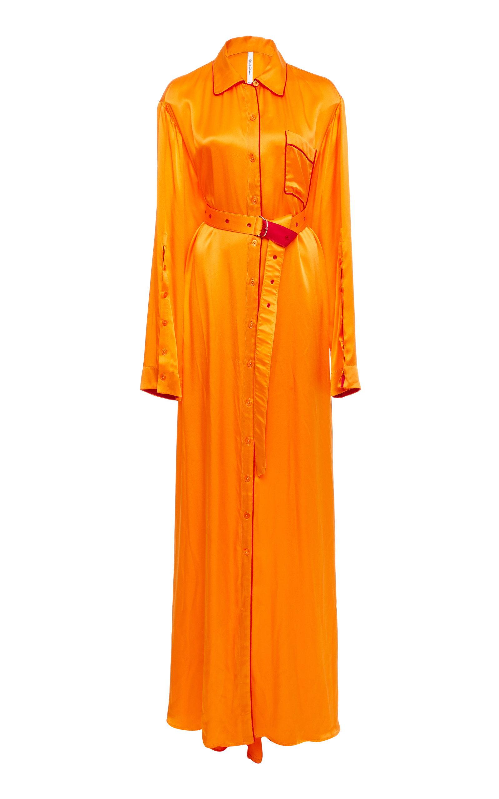 Silk Pijama Shirt Gown by Adam Selman | Moda Operandi