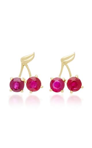 Rainbow Evil Eye 14K Gold Multistone Earrings Marianna Goulandris MMuMJco2u
