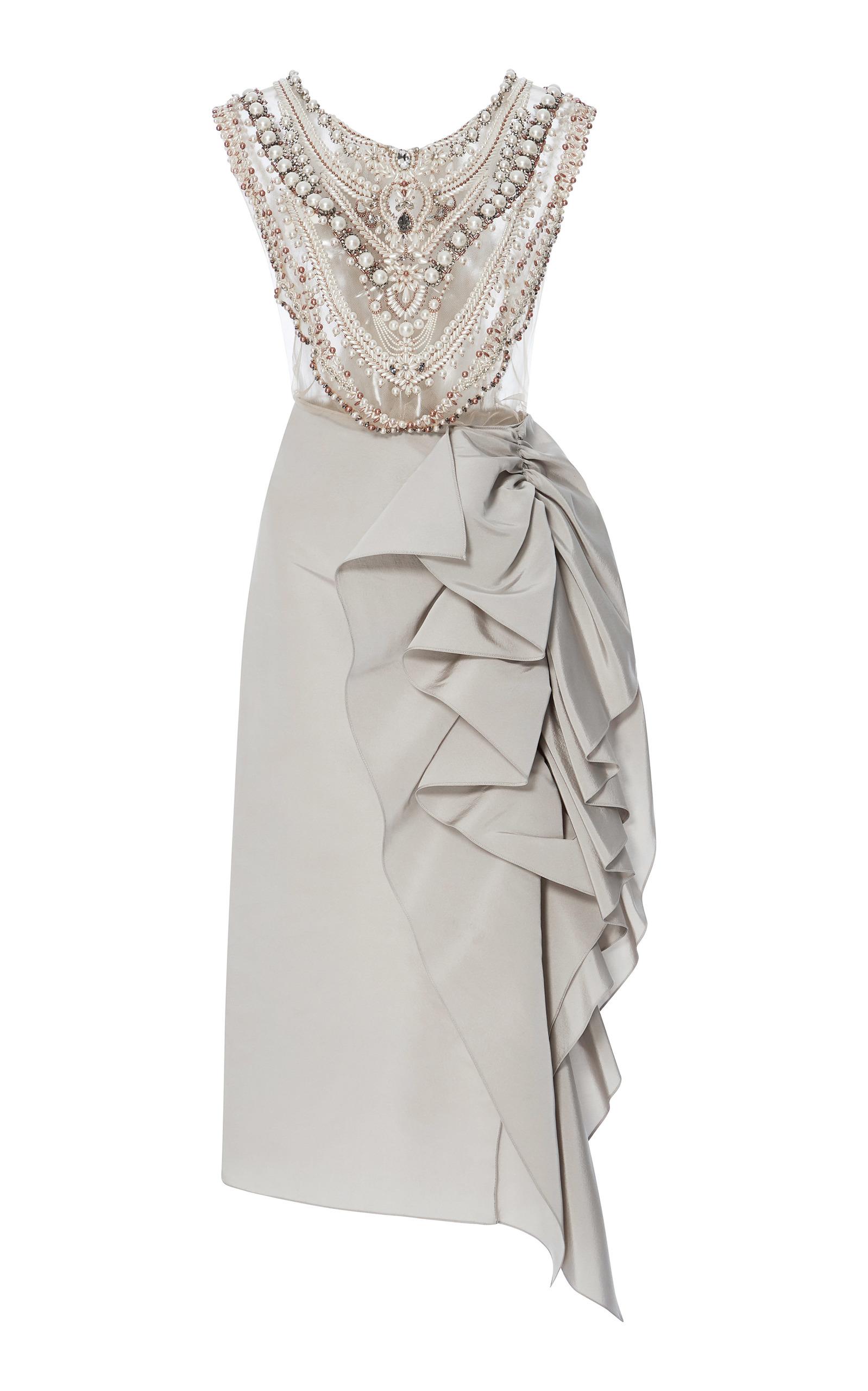 79c2e51727e Pearl Necklace Cocktail Dress by Marchesa | Moda Operandi