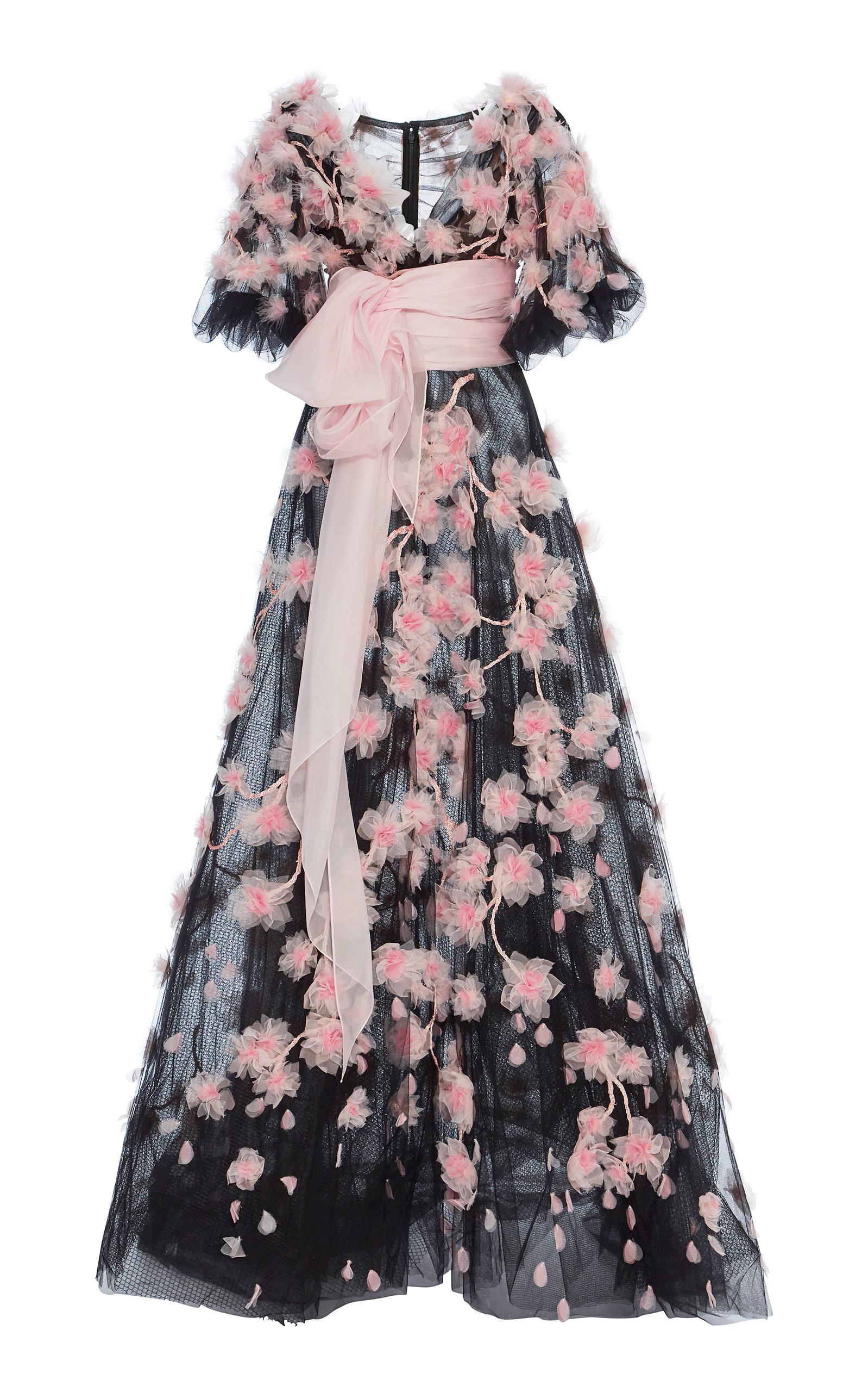 Cherry Blossom Tulle Ball Gown by Marchesa | Moda Operandi