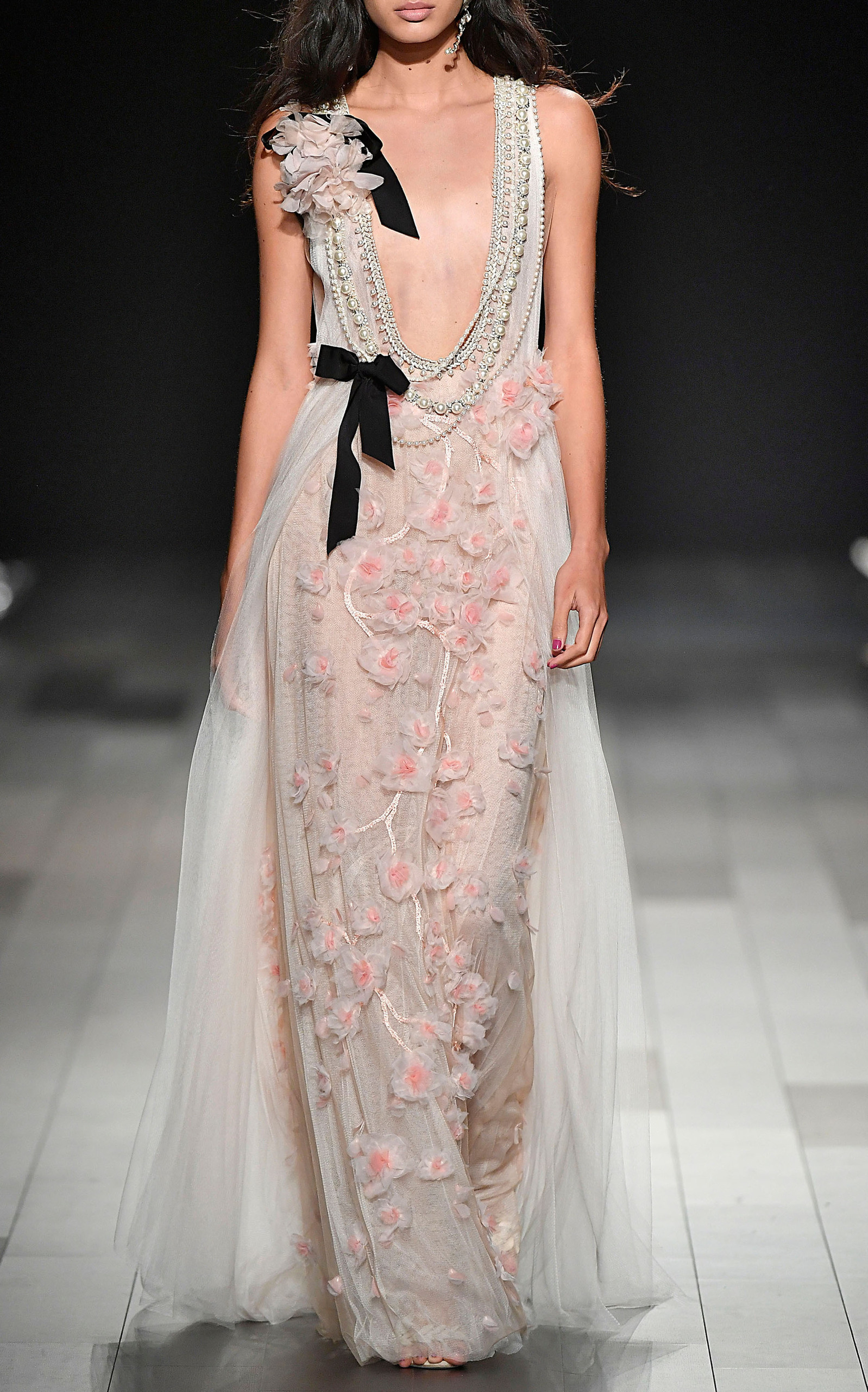 24713b49 Floral Embroidered Gown by Marchesa | Moda Operandi