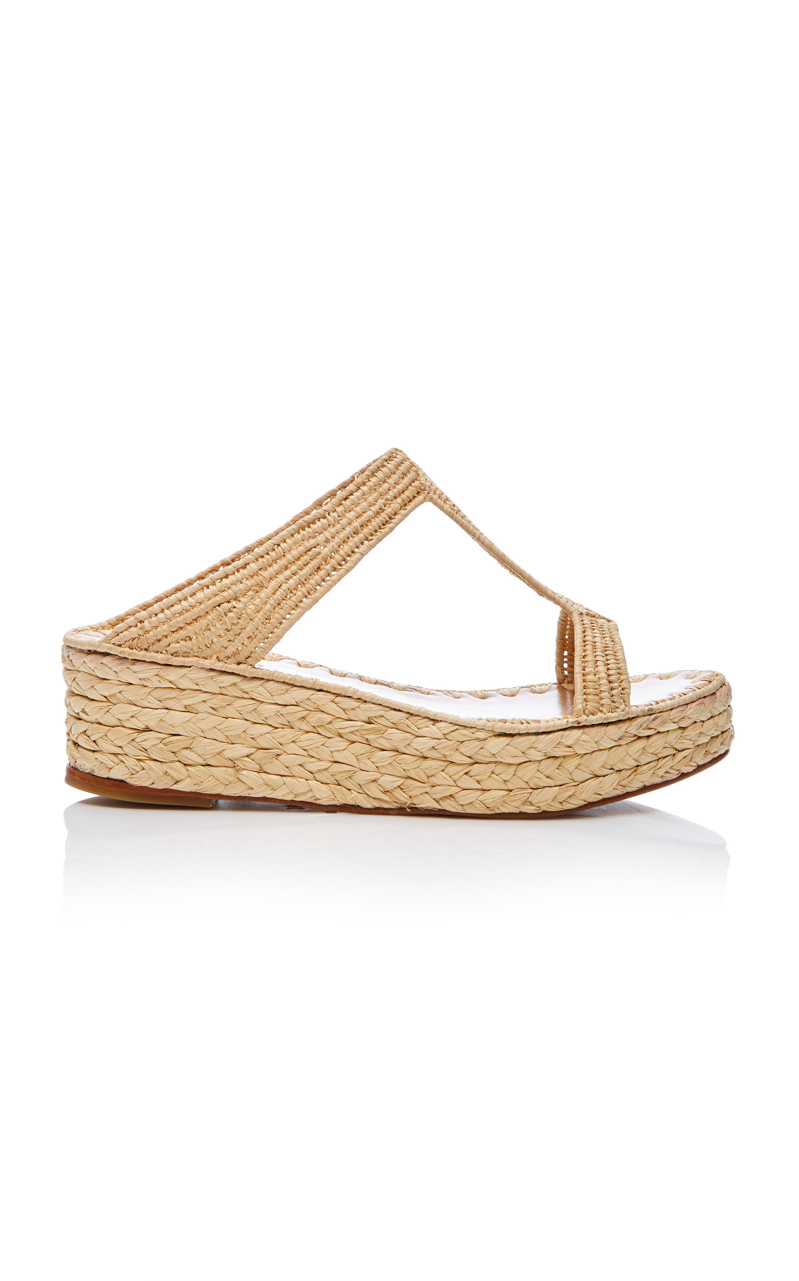 Lina Raffia Wedge SlidesCarrie Forbes