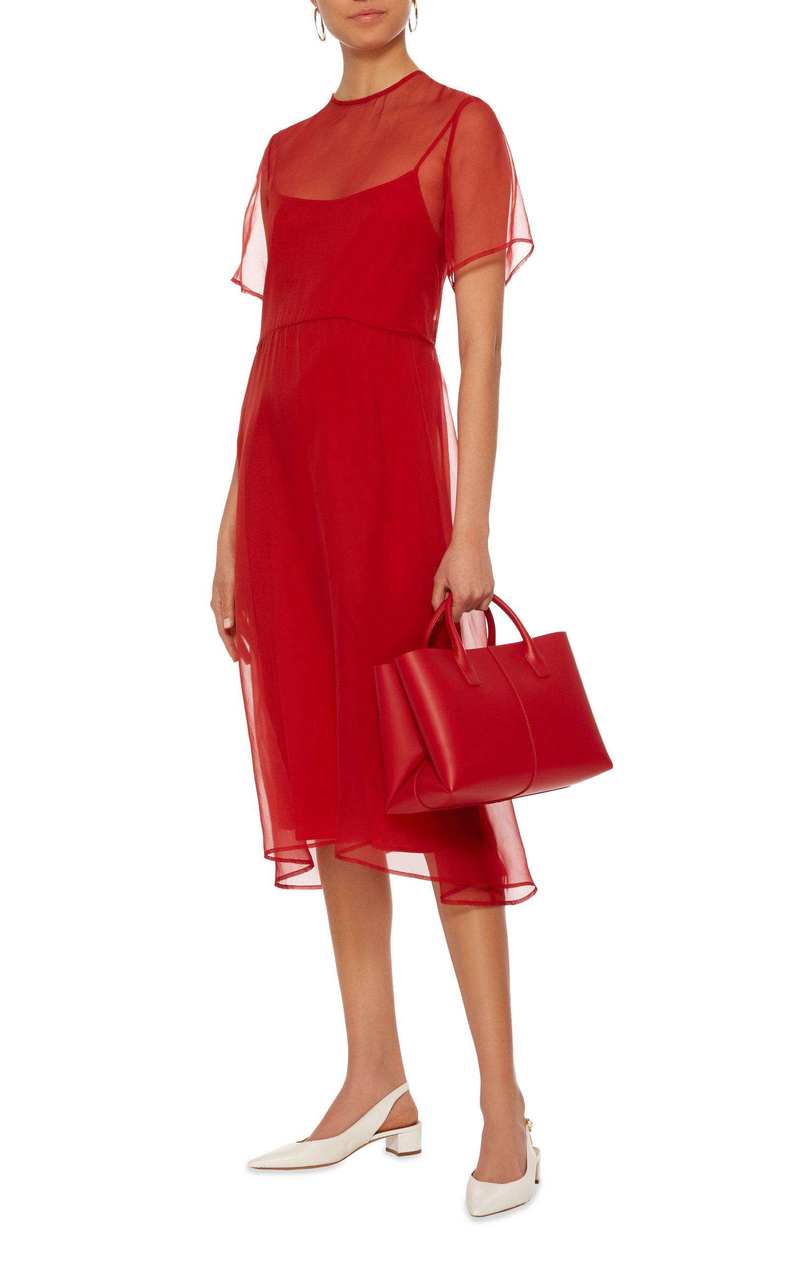 Layered Chiffon Dress by Mansur Gavriel