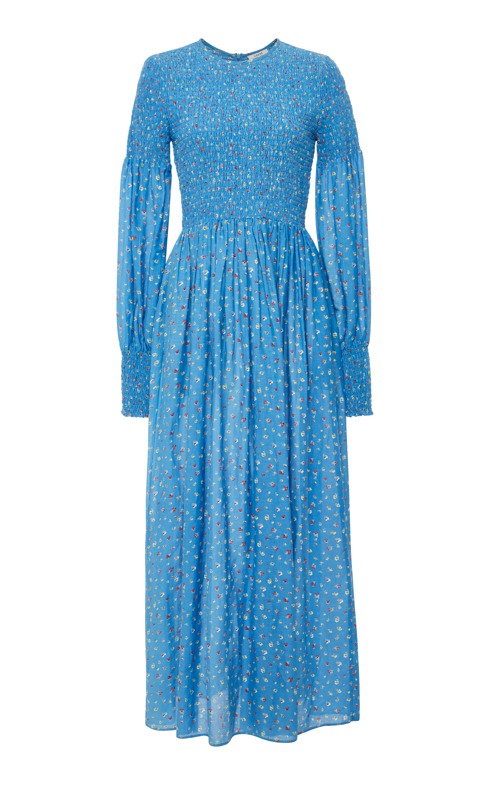 311c3f24615 Beacon Smocked Cotton and Silk-Blend Maxi Dress by