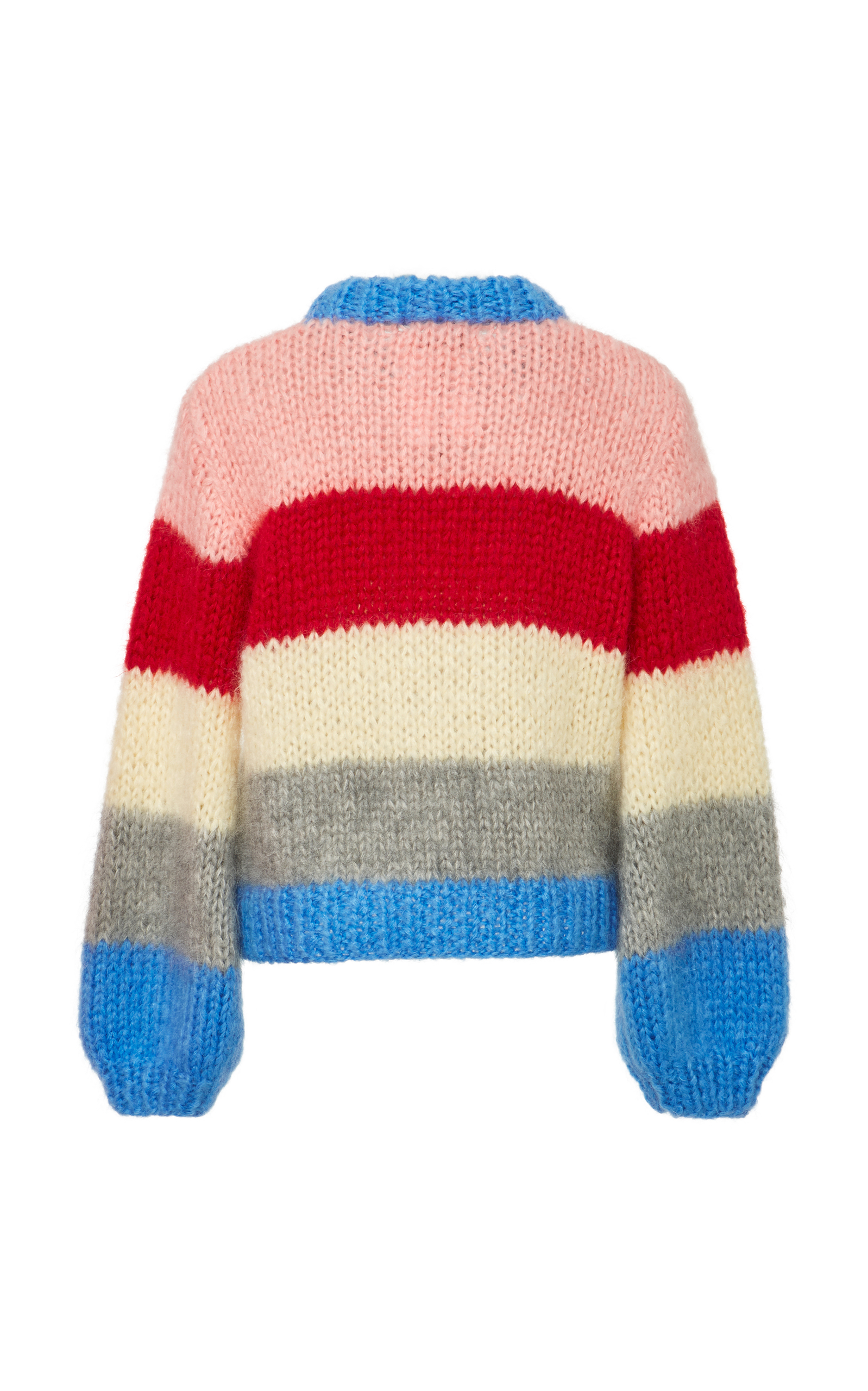 31f7adac The Julliard Striped Mohair and Wool-Blend Sweater by Ganni | Moda ...