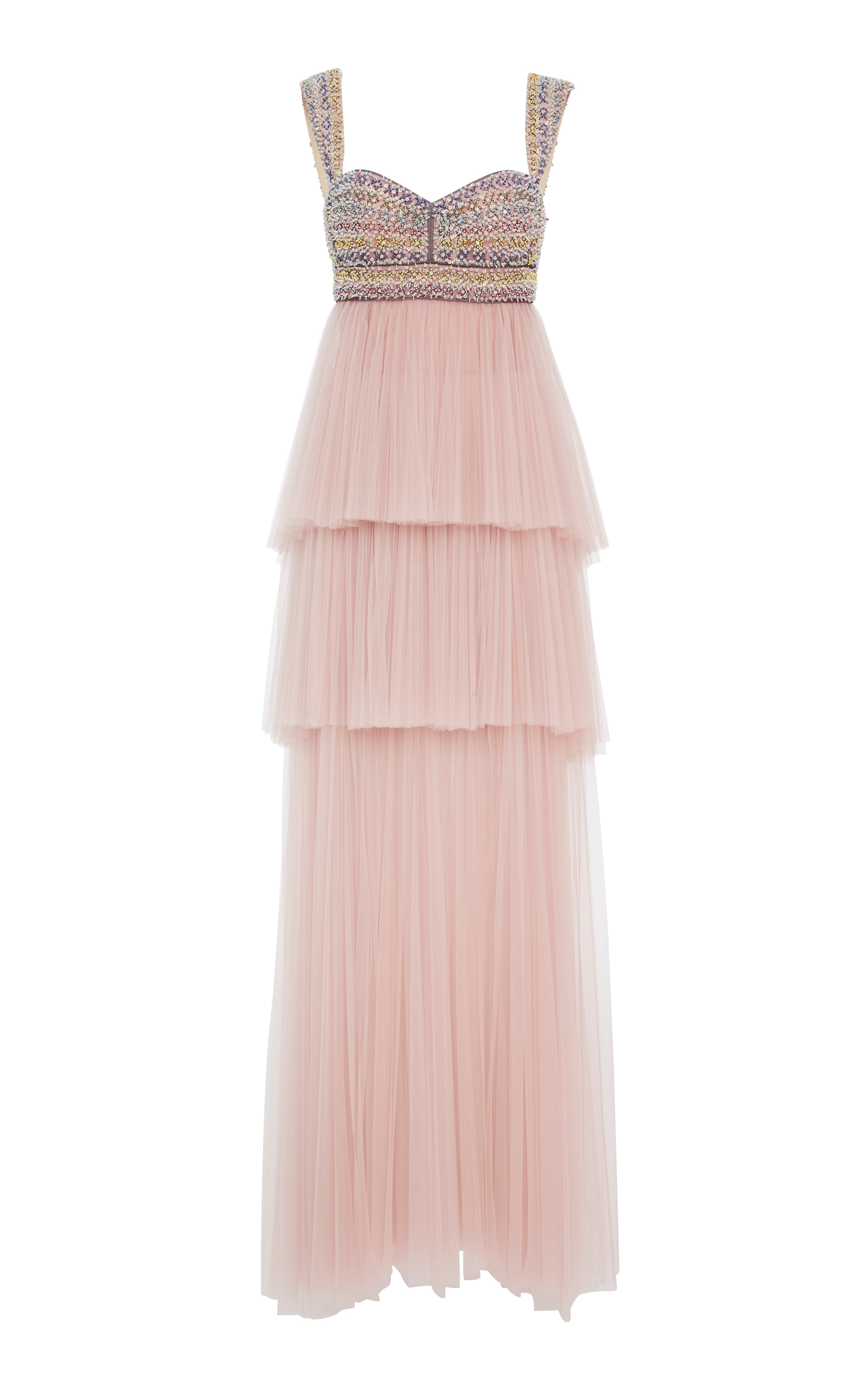 Women · J. Mendel; Embroidered Bodice Gown With Tiered Tulle Skirt. CLOSE.  Loading
