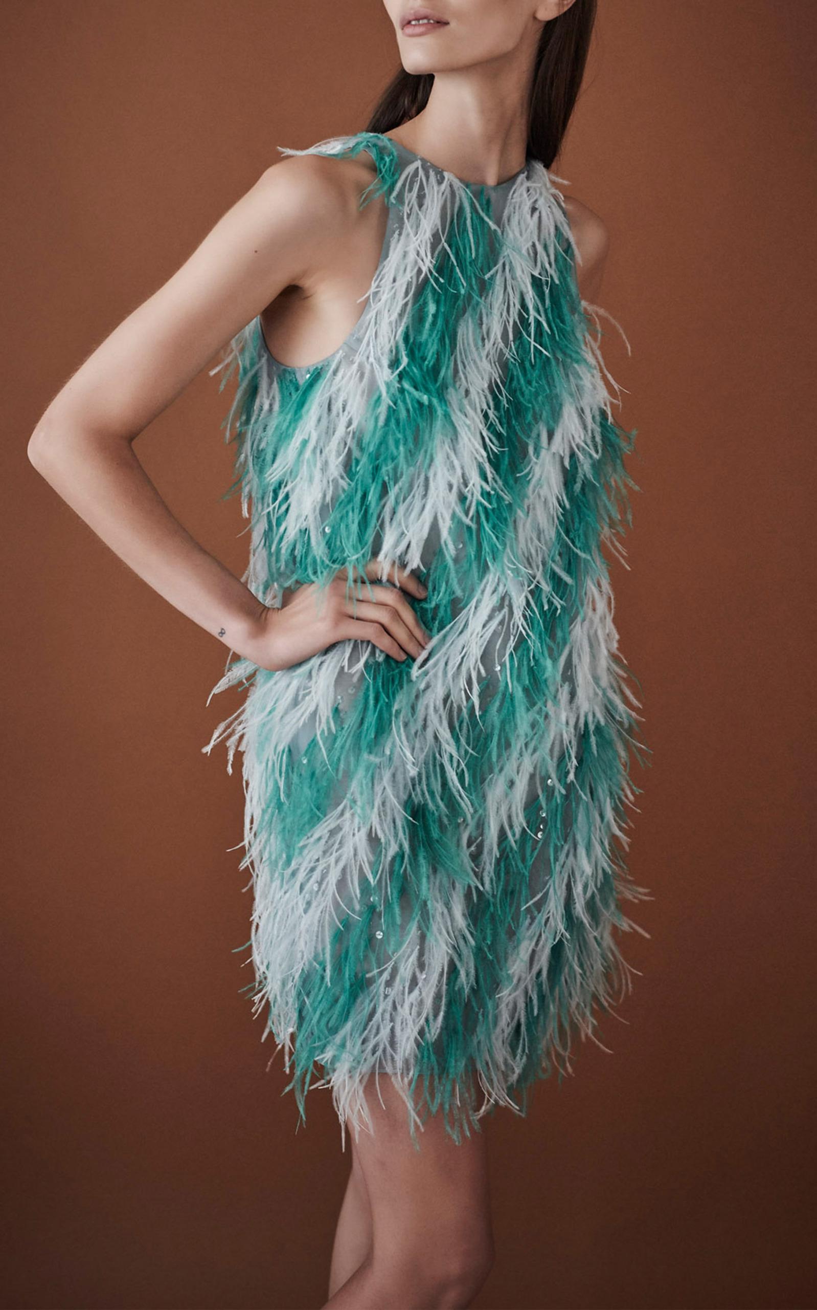 Sleeveless Feather Cocktail Dress by J. Mendel   Moda Operandi