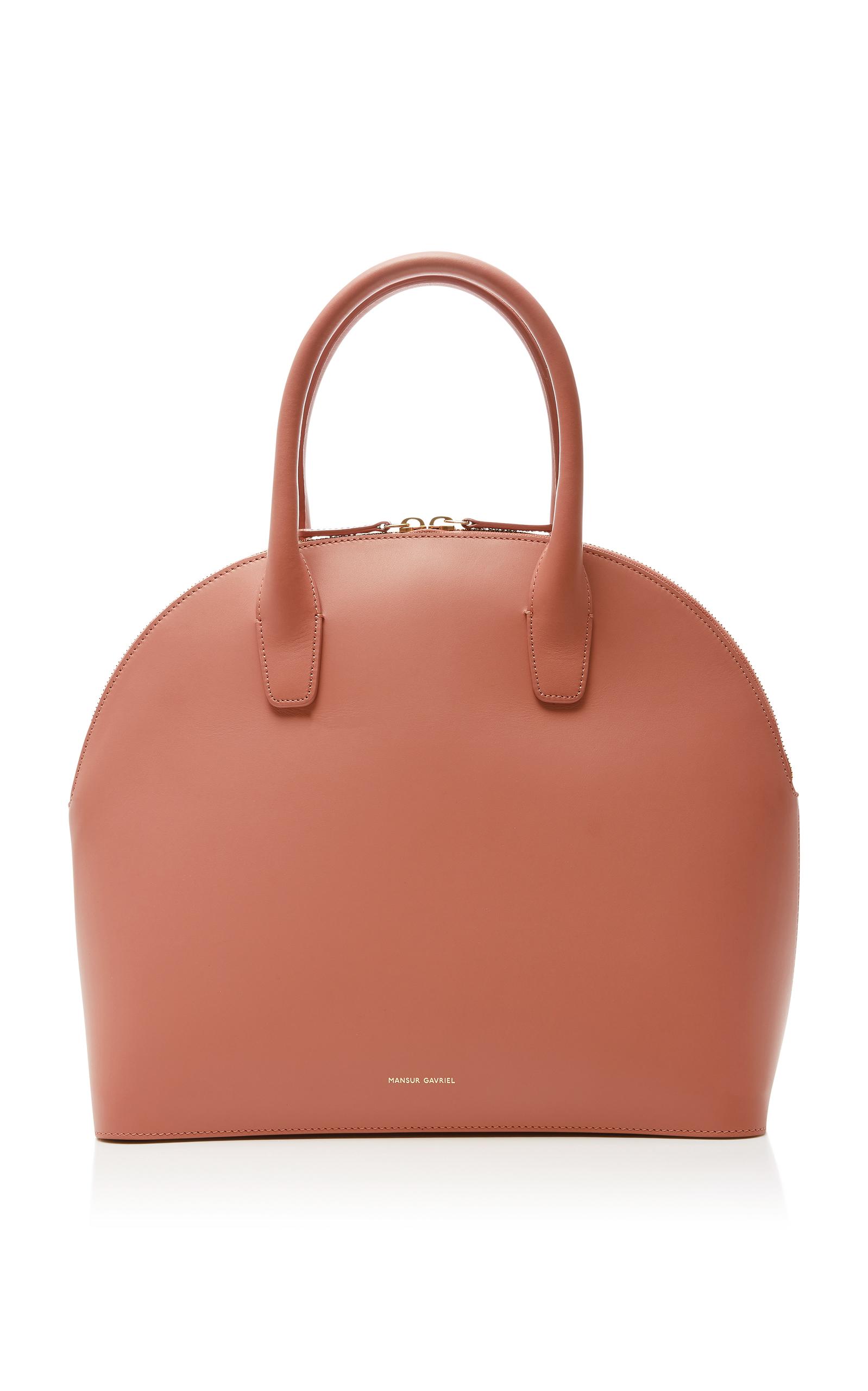 Rounded leather top-handle bag Mansur Gavriel IFuvoTFM1