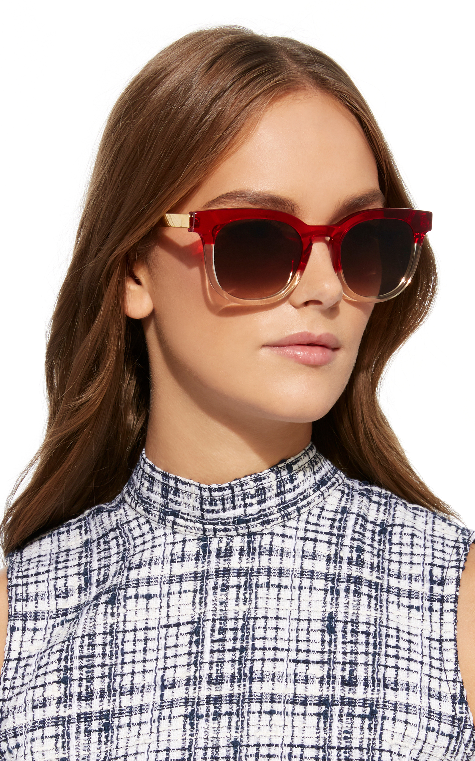 Penalty Champagne-Red Tone Acetate Sunglasses Thierry Lasry It03hY