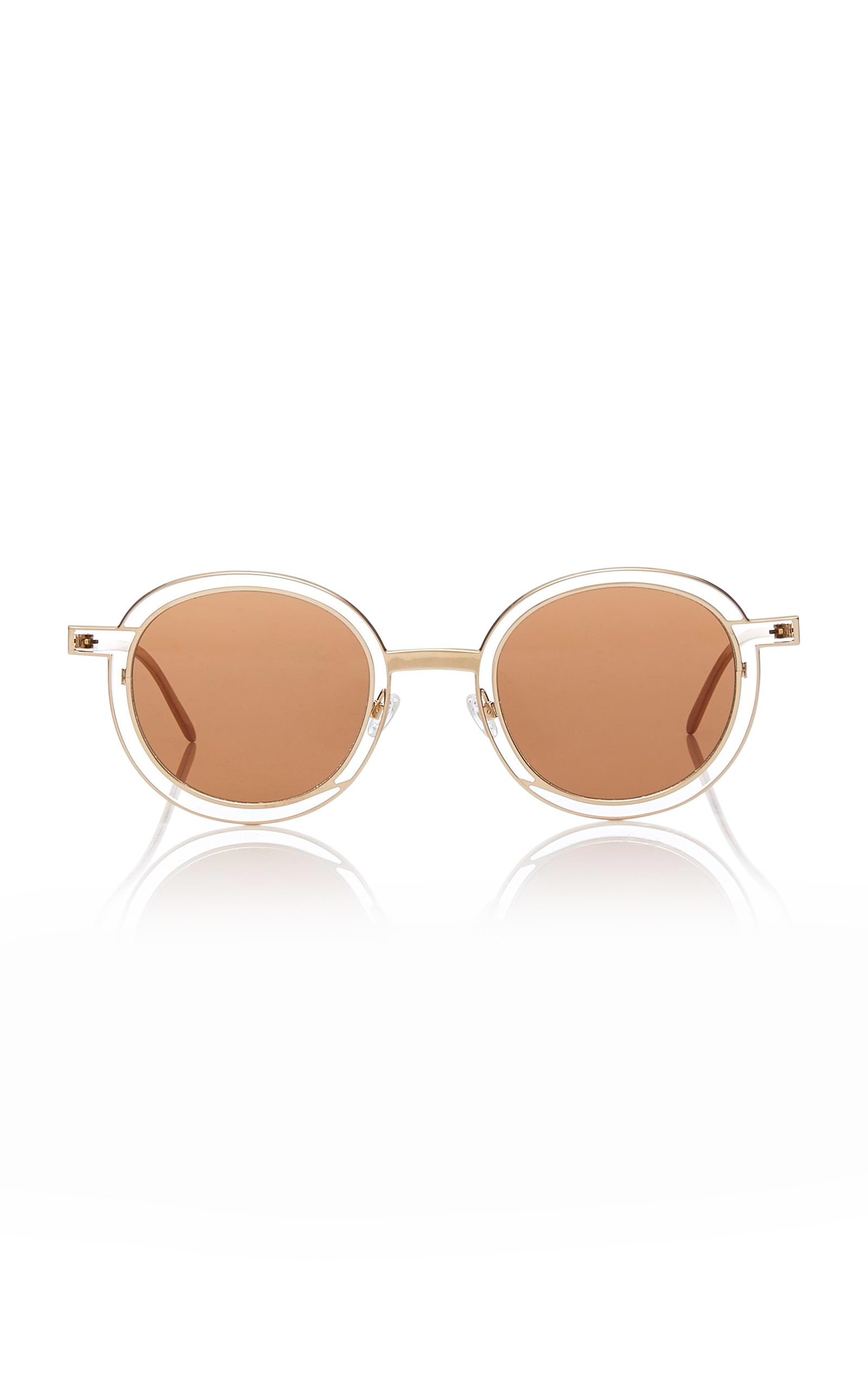 Probably Gold-Tone Round-Frame Sunglasses Thierry Lasry N95mpg