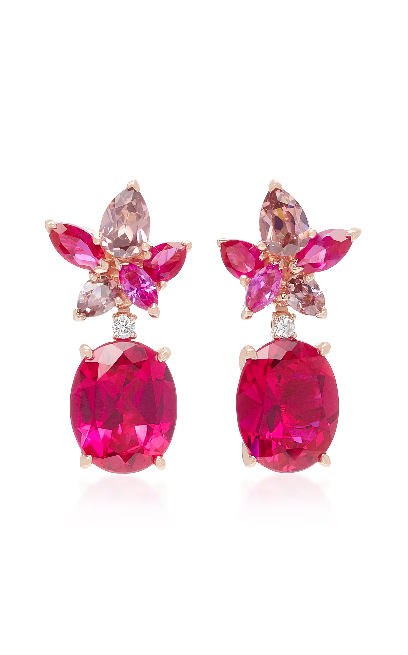 ANABELA CHAN M'O Exclusive Ruby Lily Earrings in Red