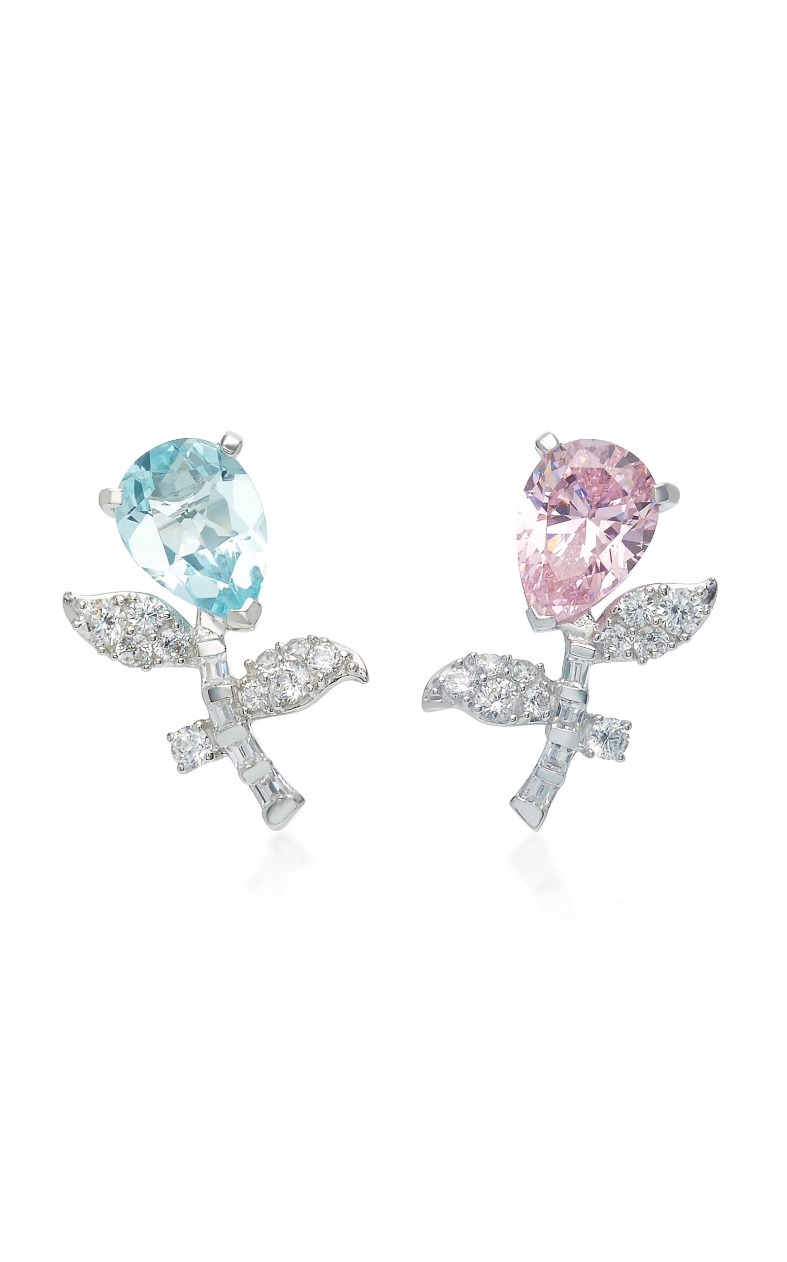 ANABELA CHAN M'O Exclusive Rose Blue Tulip Earrings in Pink