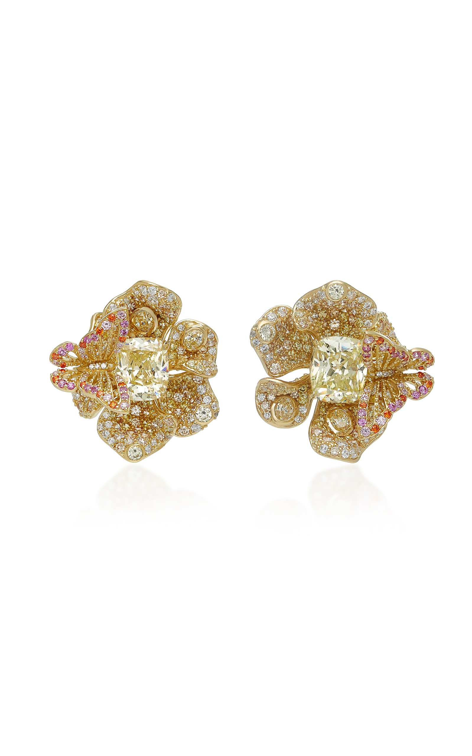 ANABELA CHAN M'O Exclusive Canary Peony Earrings in Gold