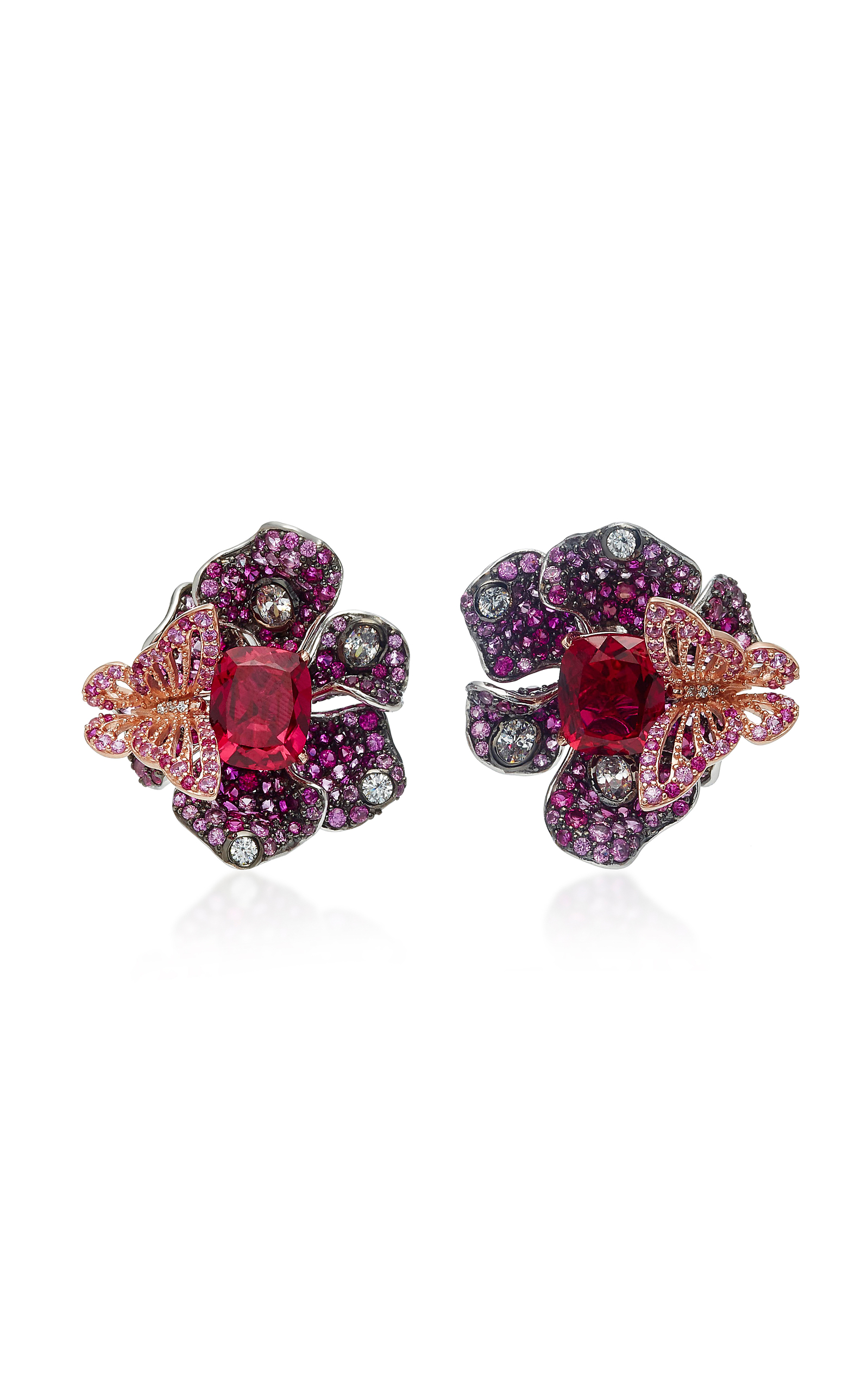 ANABELA CHAN M'O Exclusive Ruby Peony Earrings in Pink