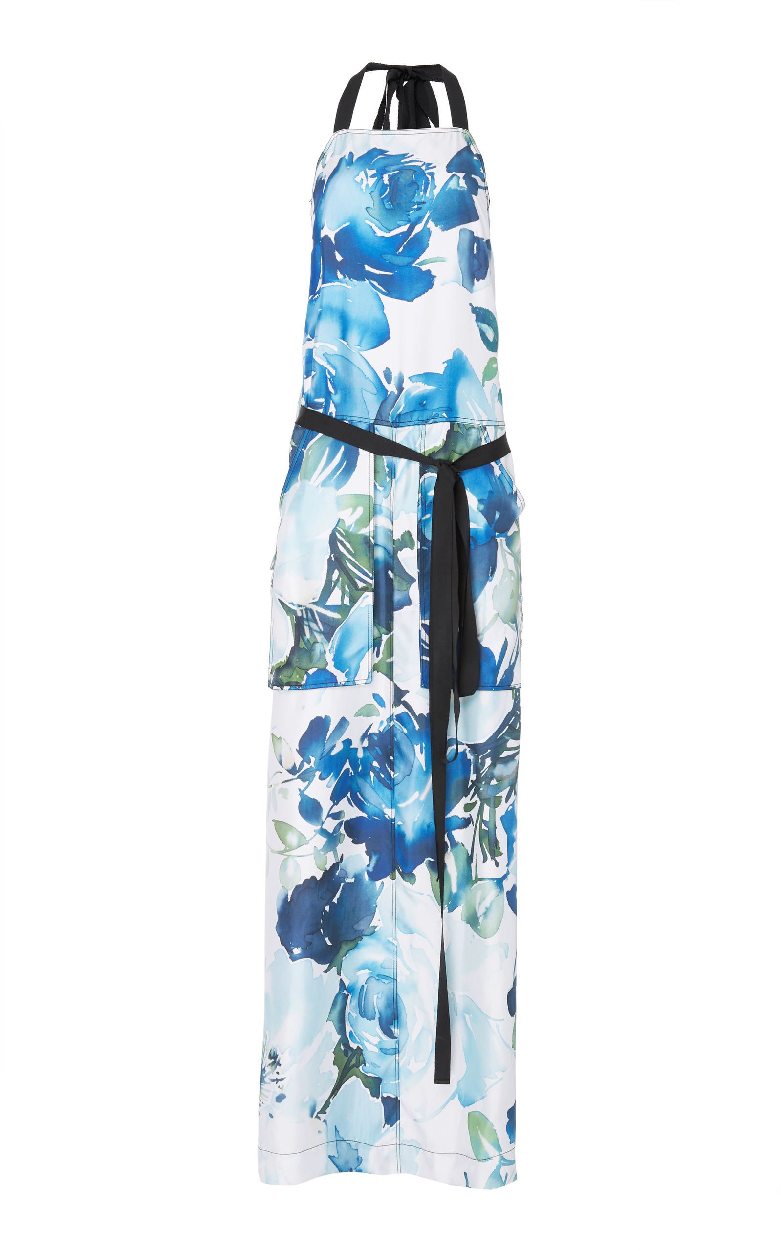BY. BONNIE YOUNG FLORAL SILK APRON DRESS