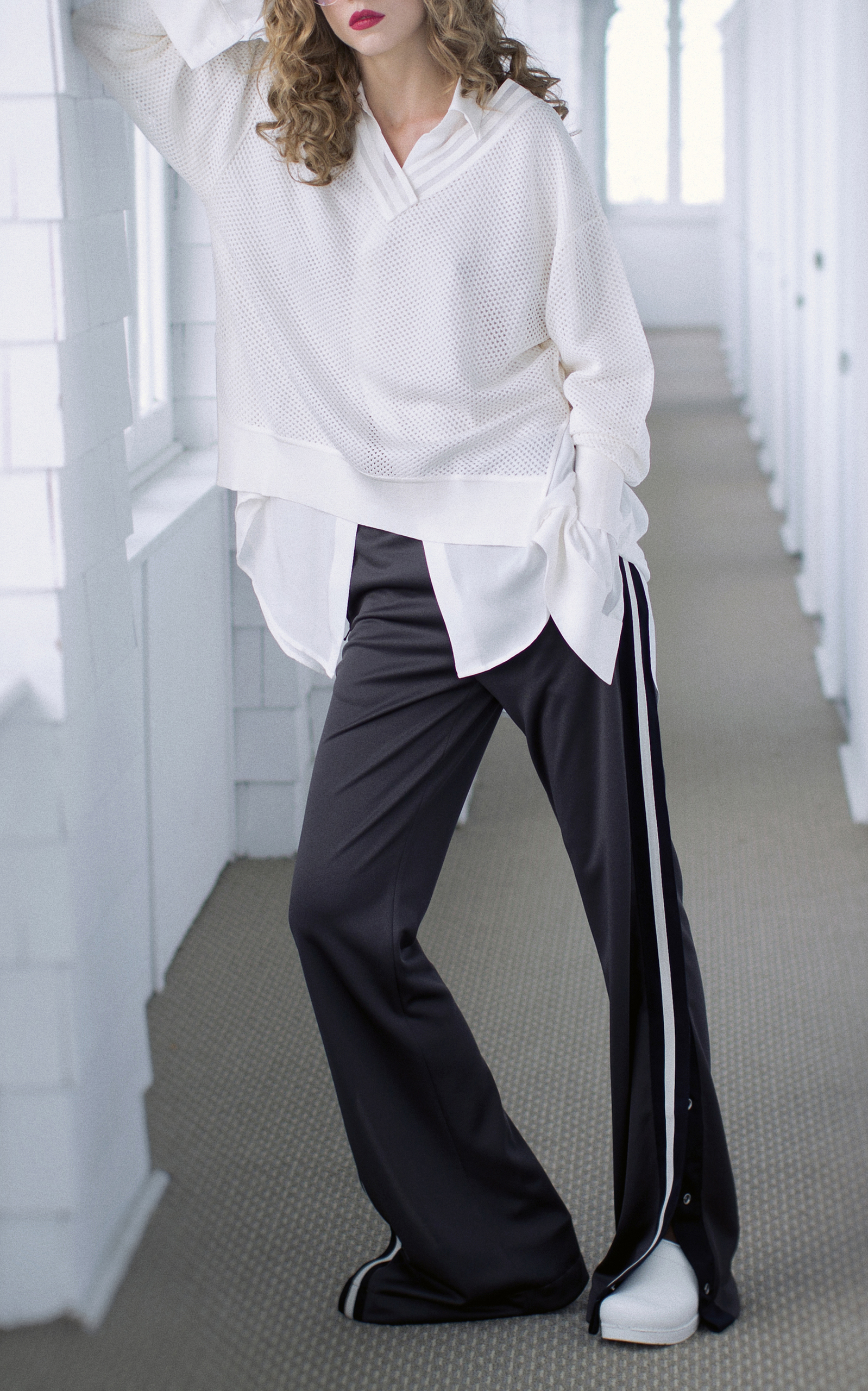 BY. BONNIE YOUNG COMPACT-KNIT TRACK PANTS