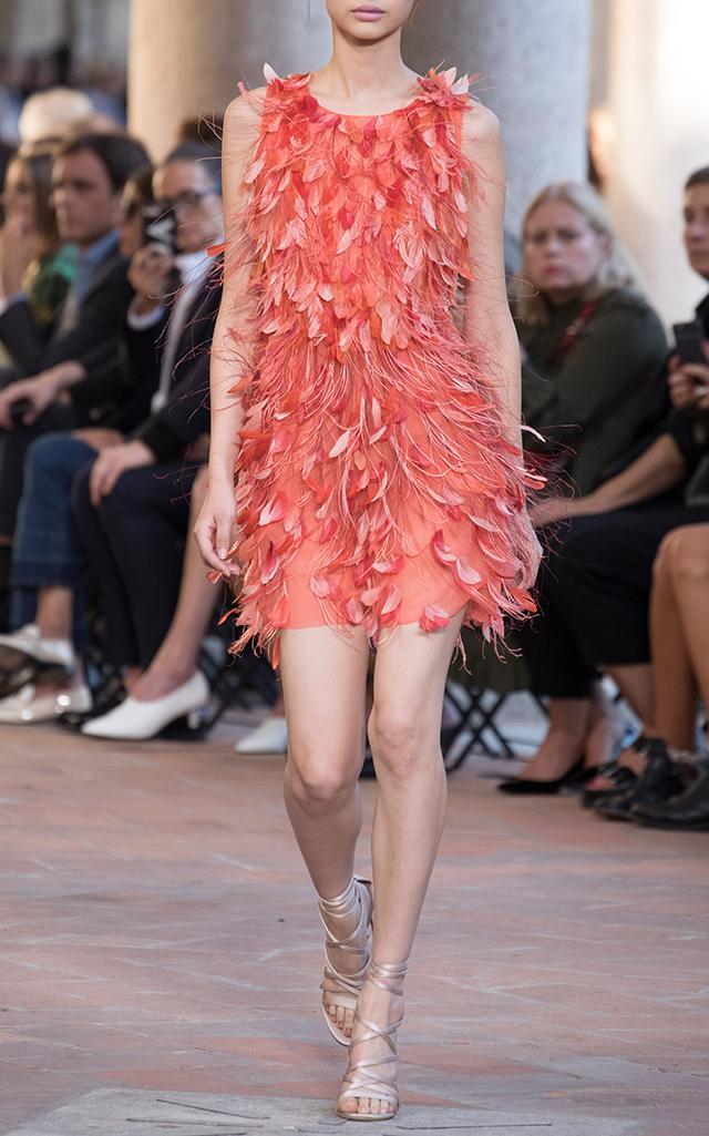 Feather Cocktail Mini Dress by Alberta Ferretti   Moda Operandi