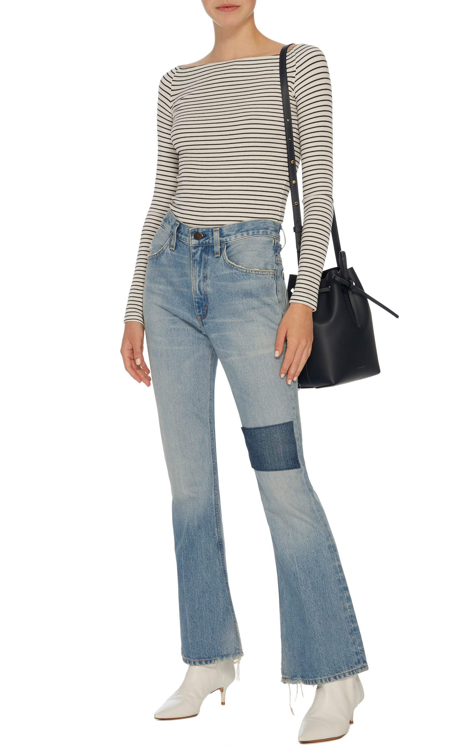 online for sale 60% cheap for whole family Kaya Mid-Rise Kick-Flare Jeans