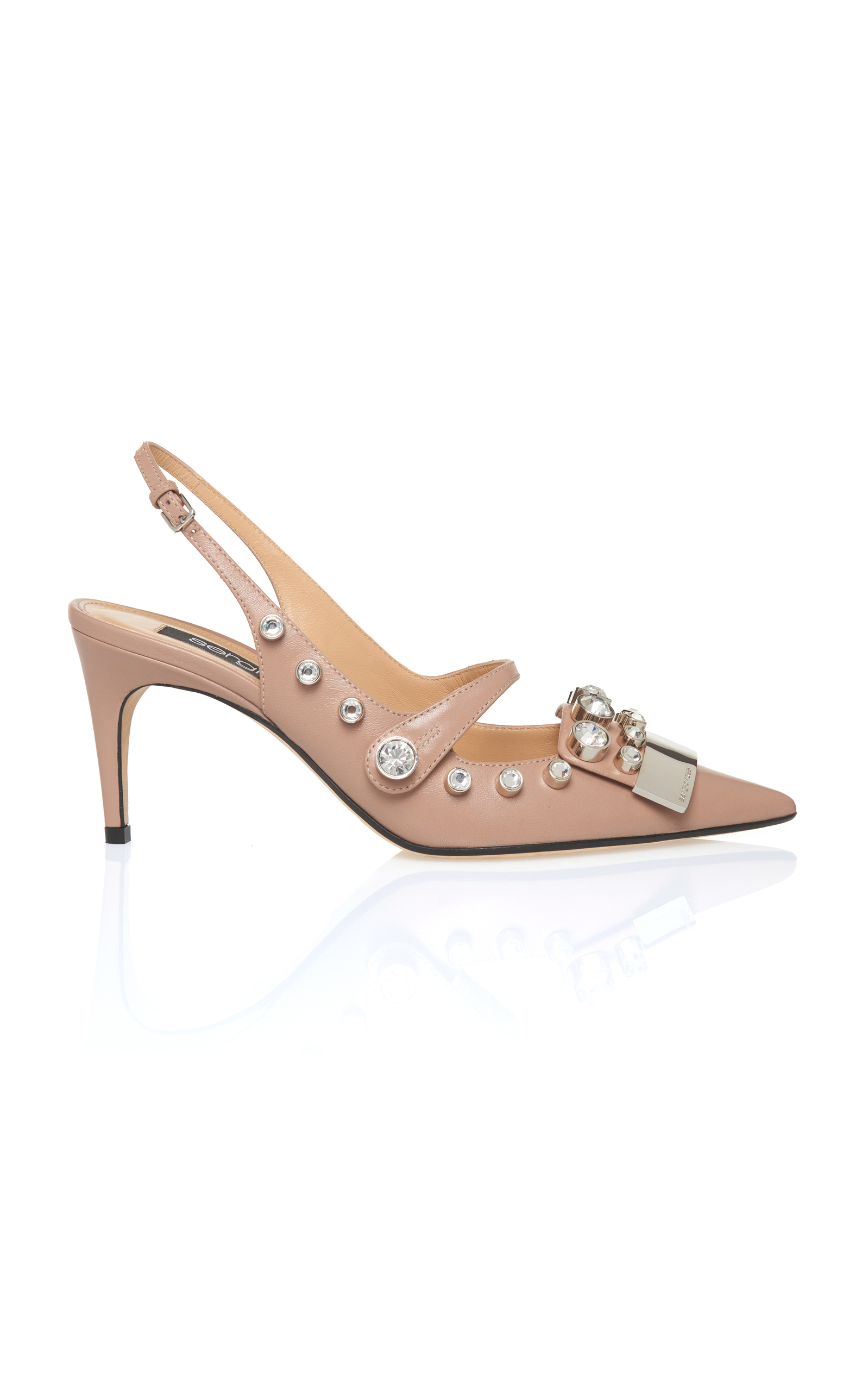 Sergio Rossi embellished slingback sandals clearance low cost sale view Bs7A8mq