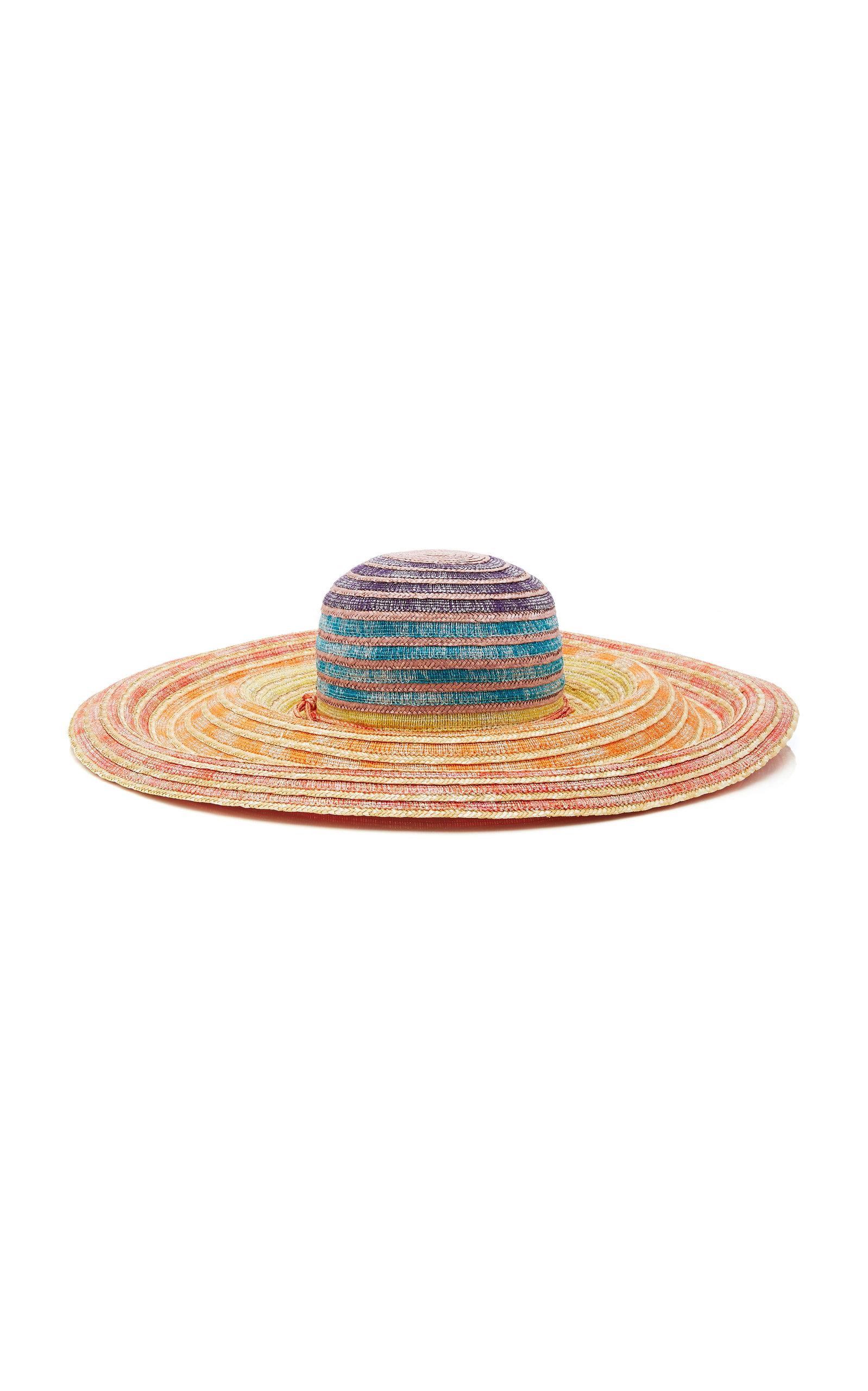 Multicolored Wide-Brimmed Sun Hat in Multicoloured