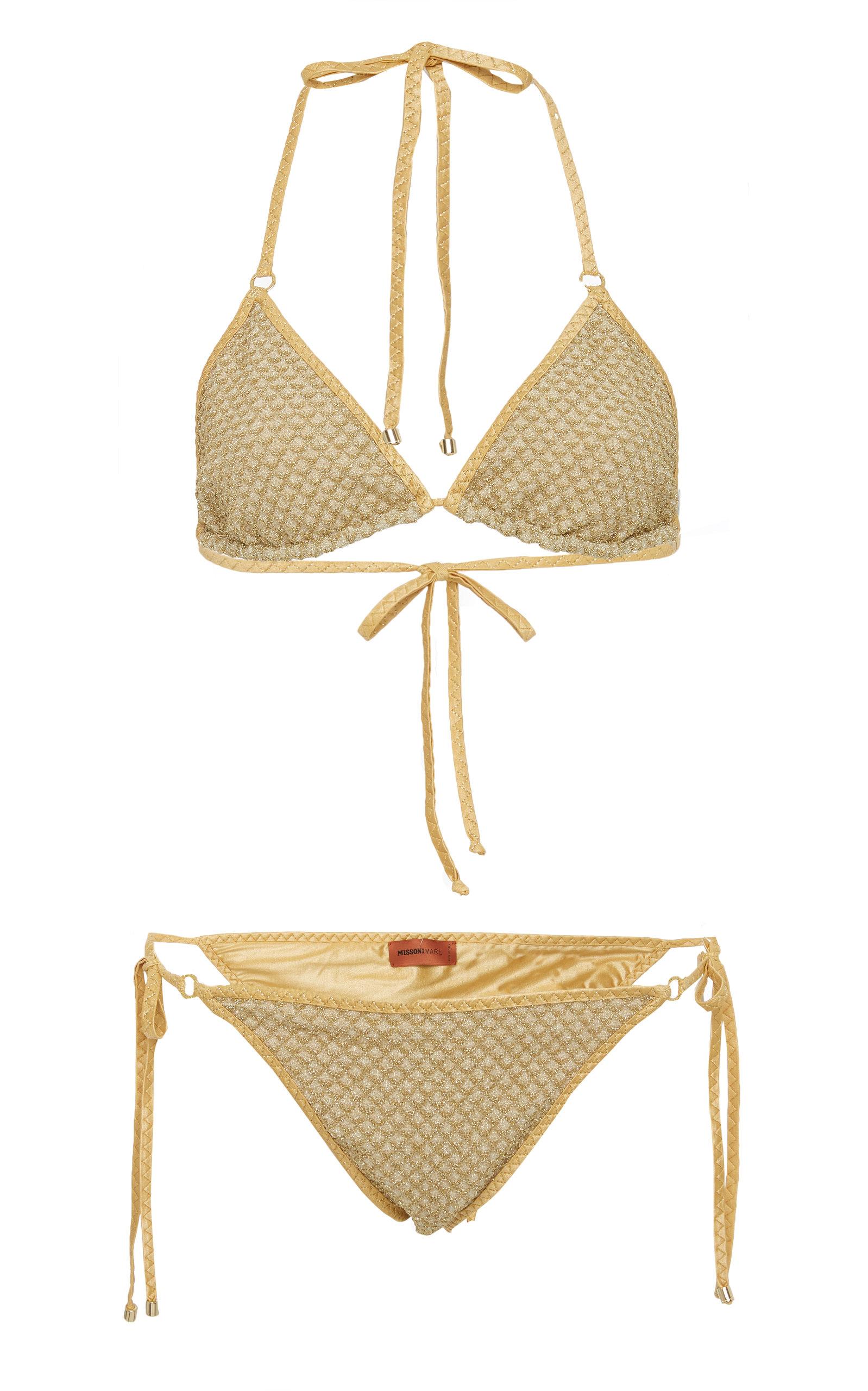 85b6da361c142 Metallic String Triangle Bikini Set by Missoni Mare | Moda Operandi