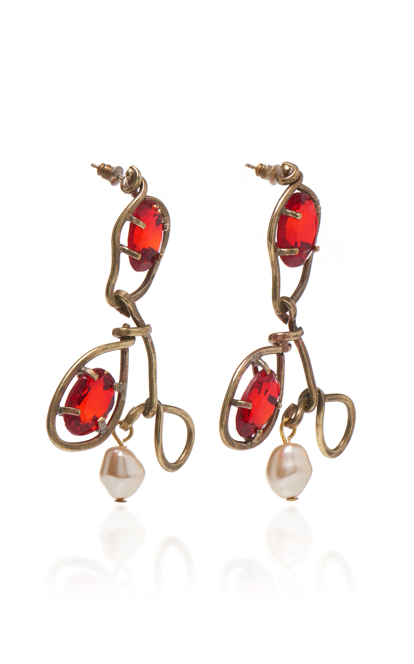 Earrings with Glass and Pearls Marni 8bpEdM0lD