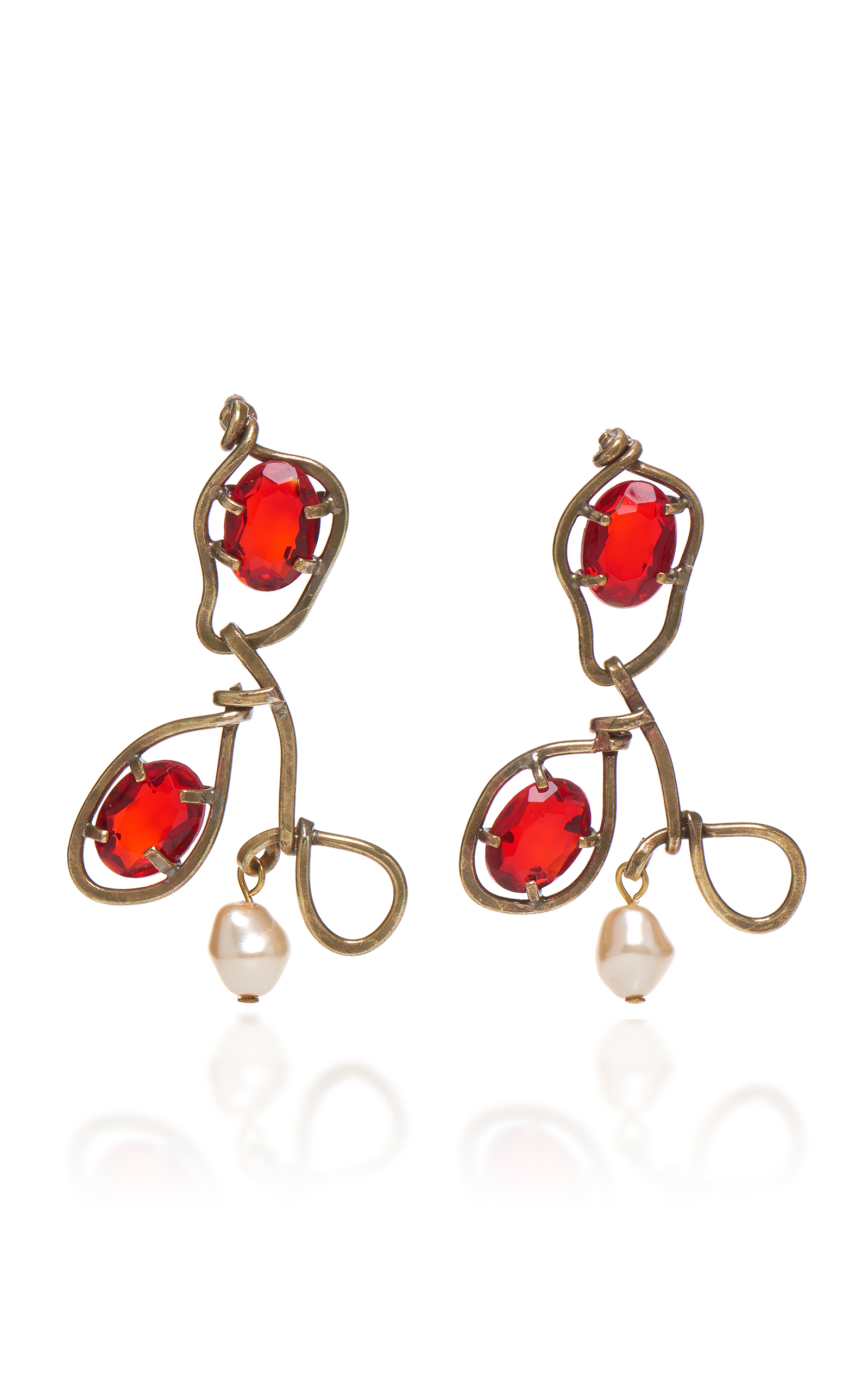 Earrings with Glass and Pearls Marni MH8OVSWH7