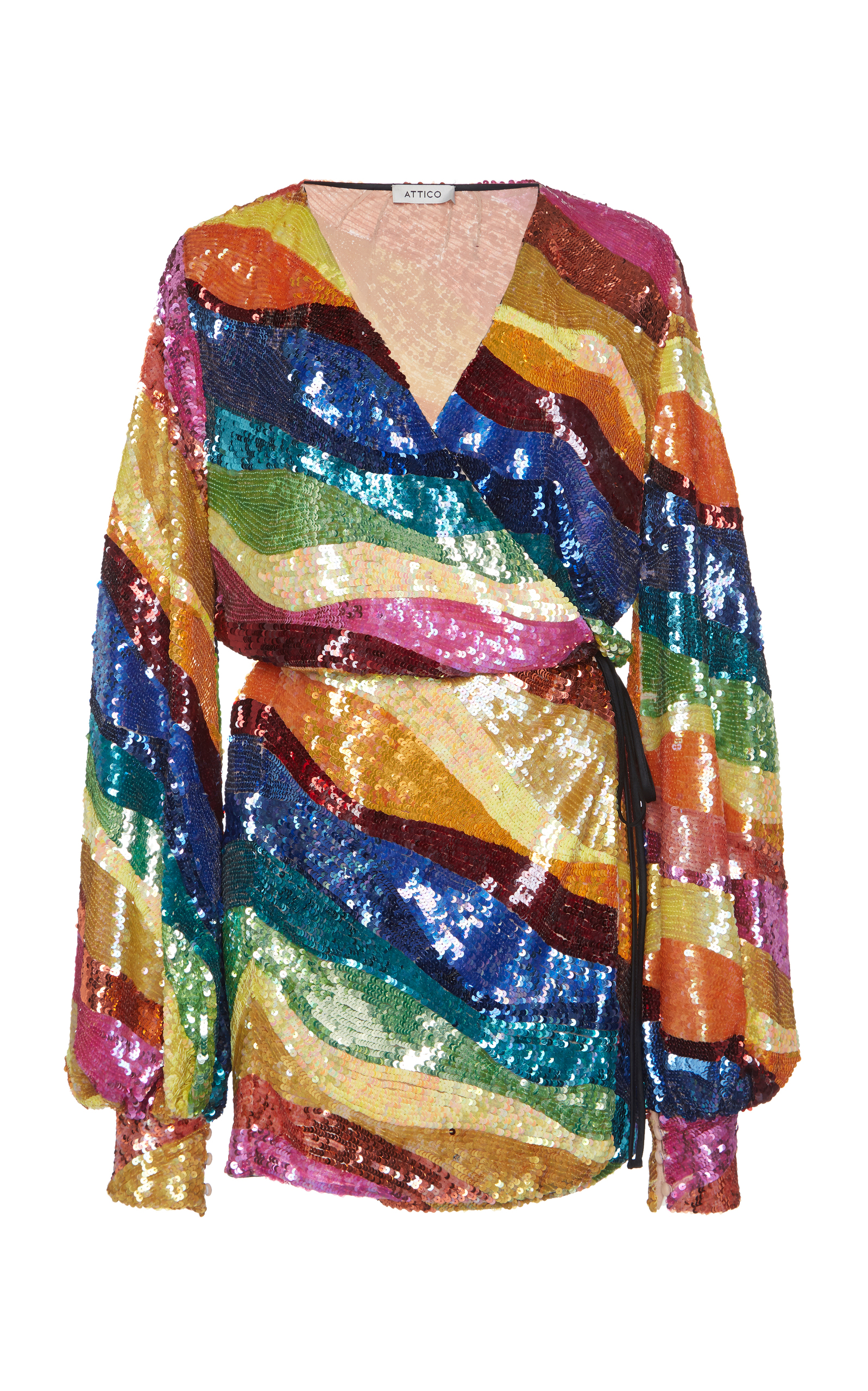 The Attico Rainbow Sequin Dress Image Balcony And Attic