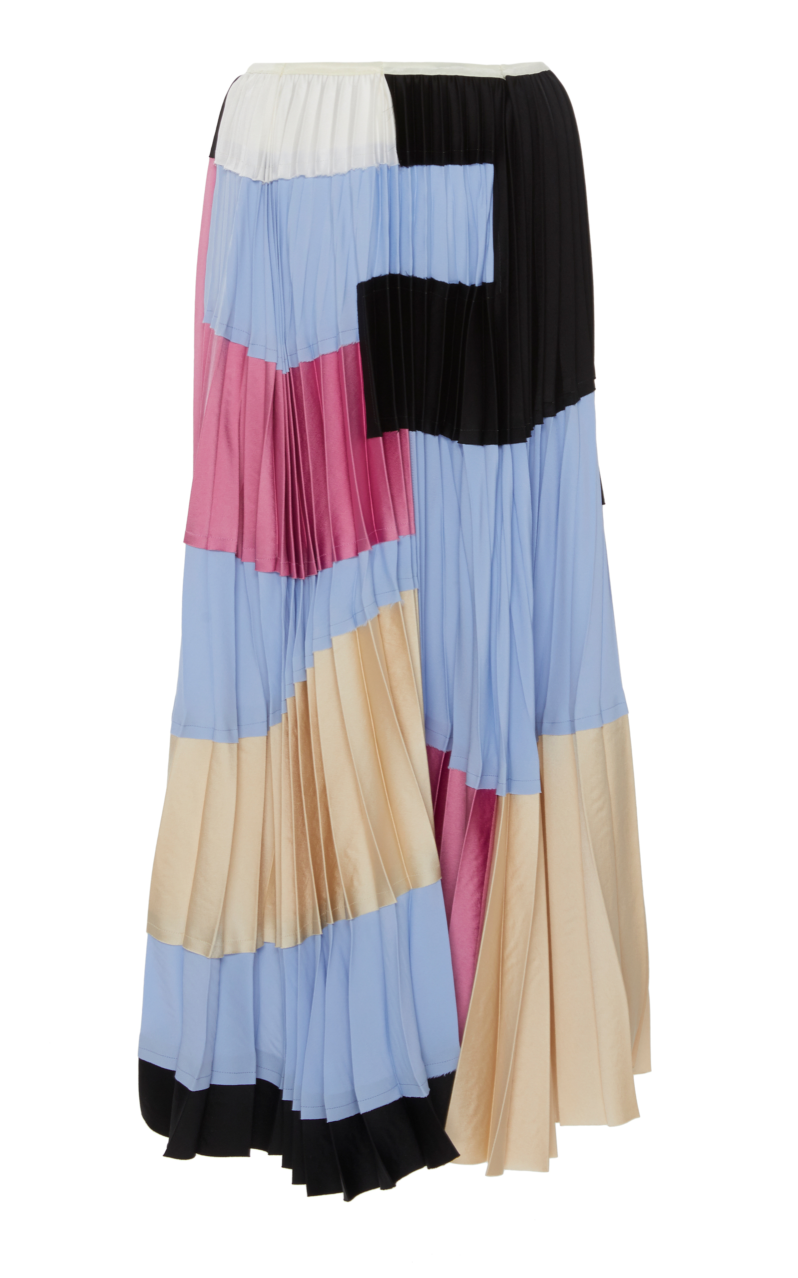 0546fcda5b Color Block Pleated Skirt by Marni   Moda Operandi