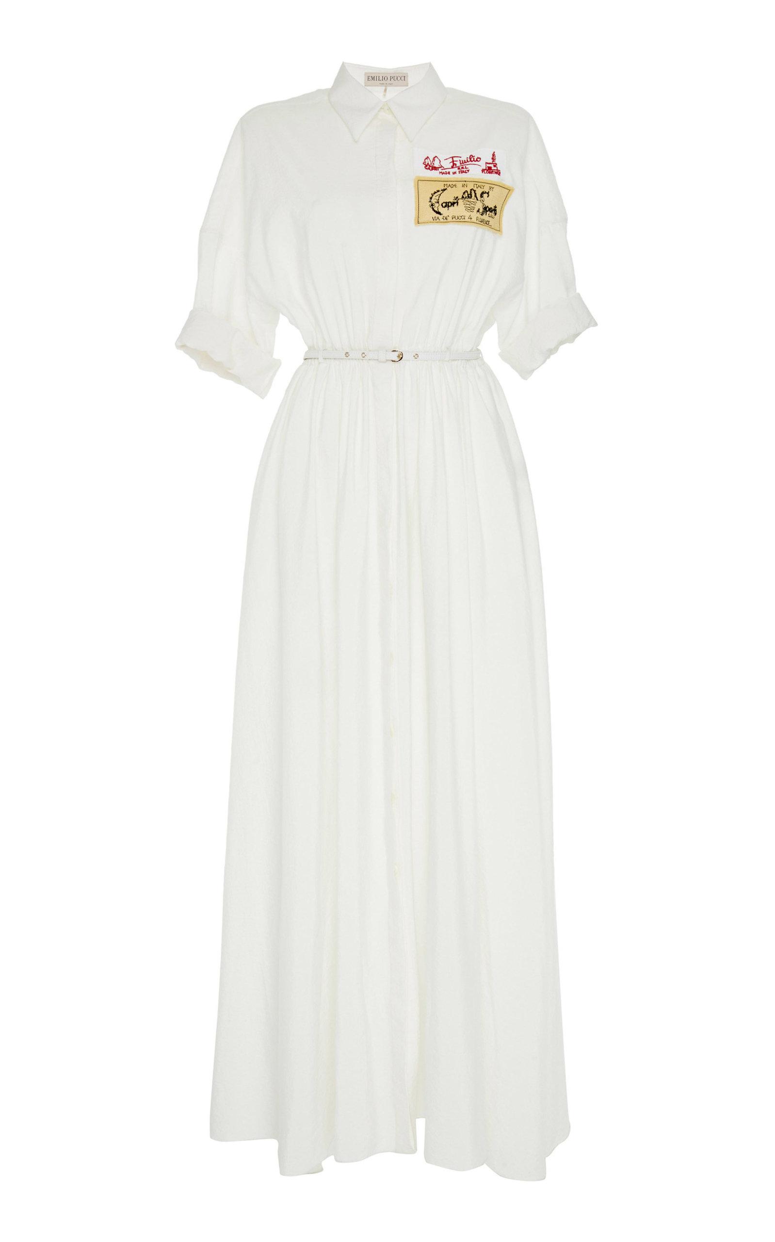 Maxi Silk Shirt Dress Emilio Pucci SHN6qicj