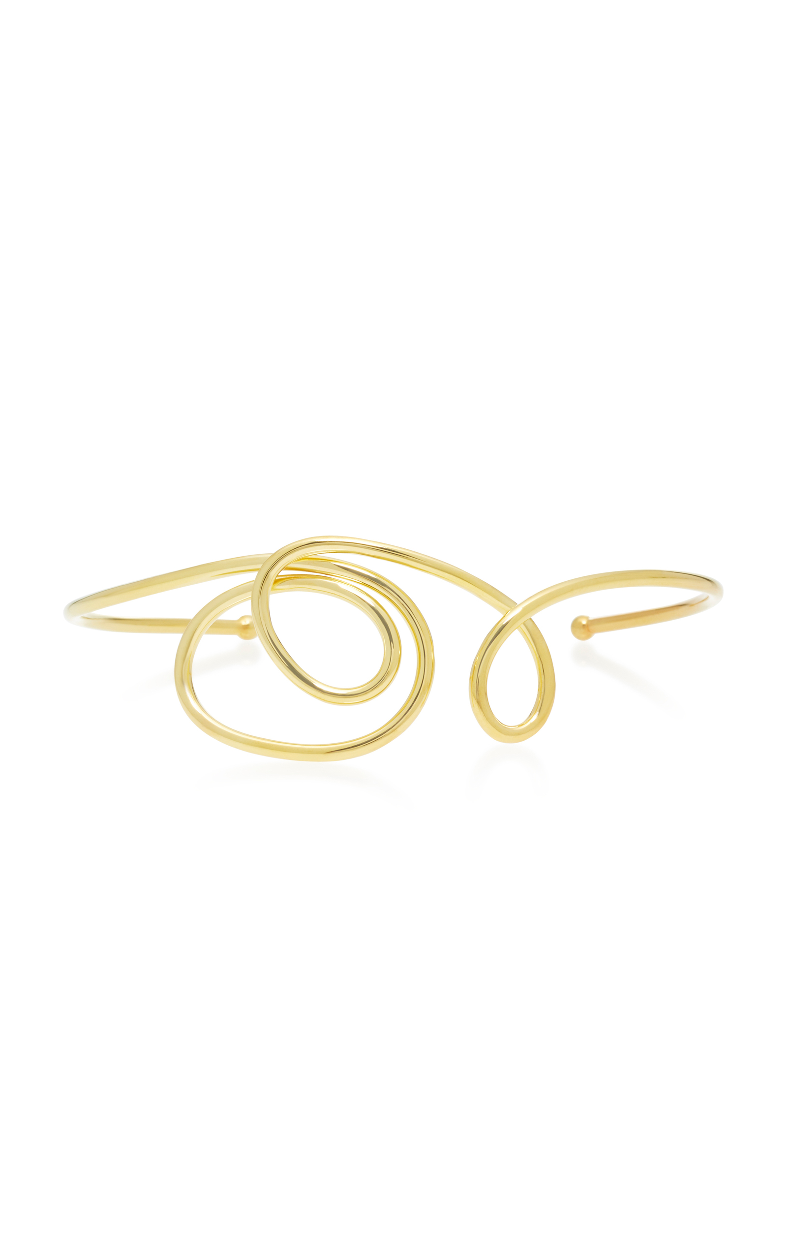 JOANNA LAURA CONSTANTINE GOLD-PLATED KNOT CHOKER NECKLACE