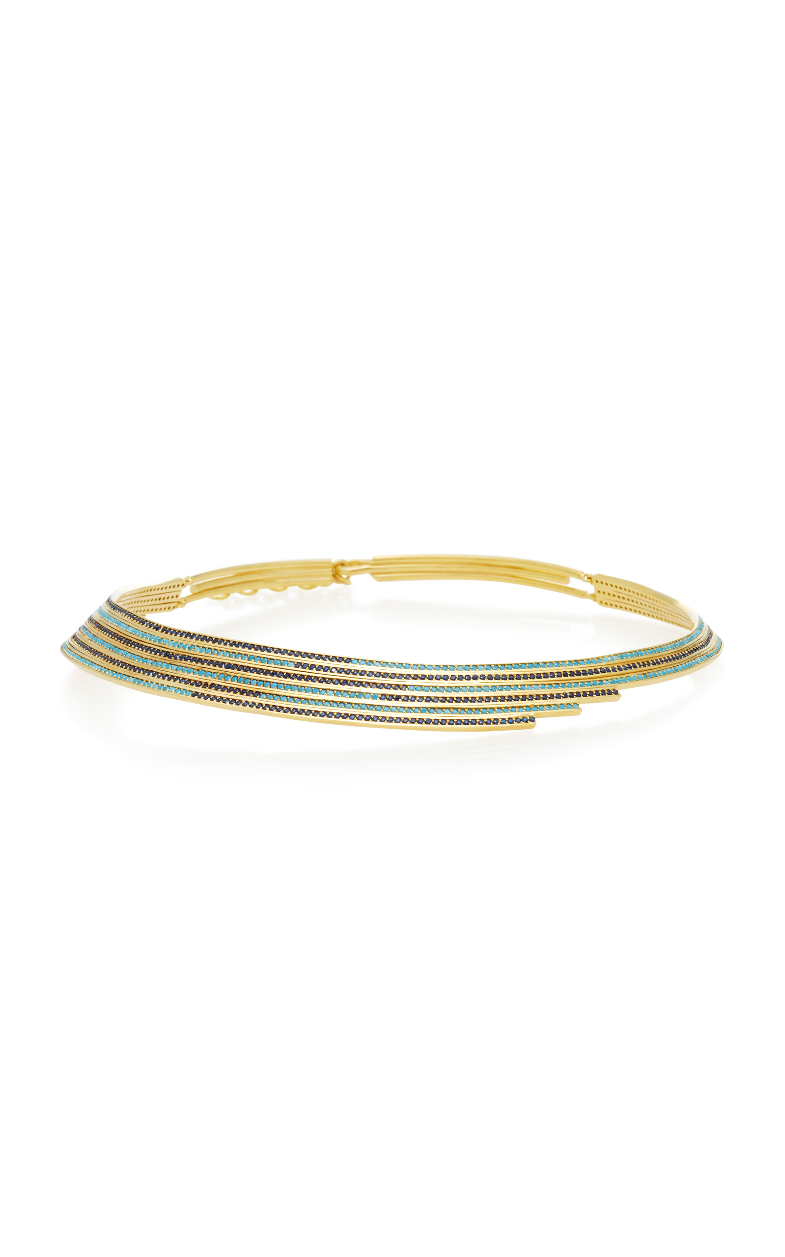 JOANNA LAURA CONSTANTINE GOLD-PLATED LINEAR NECKLACE