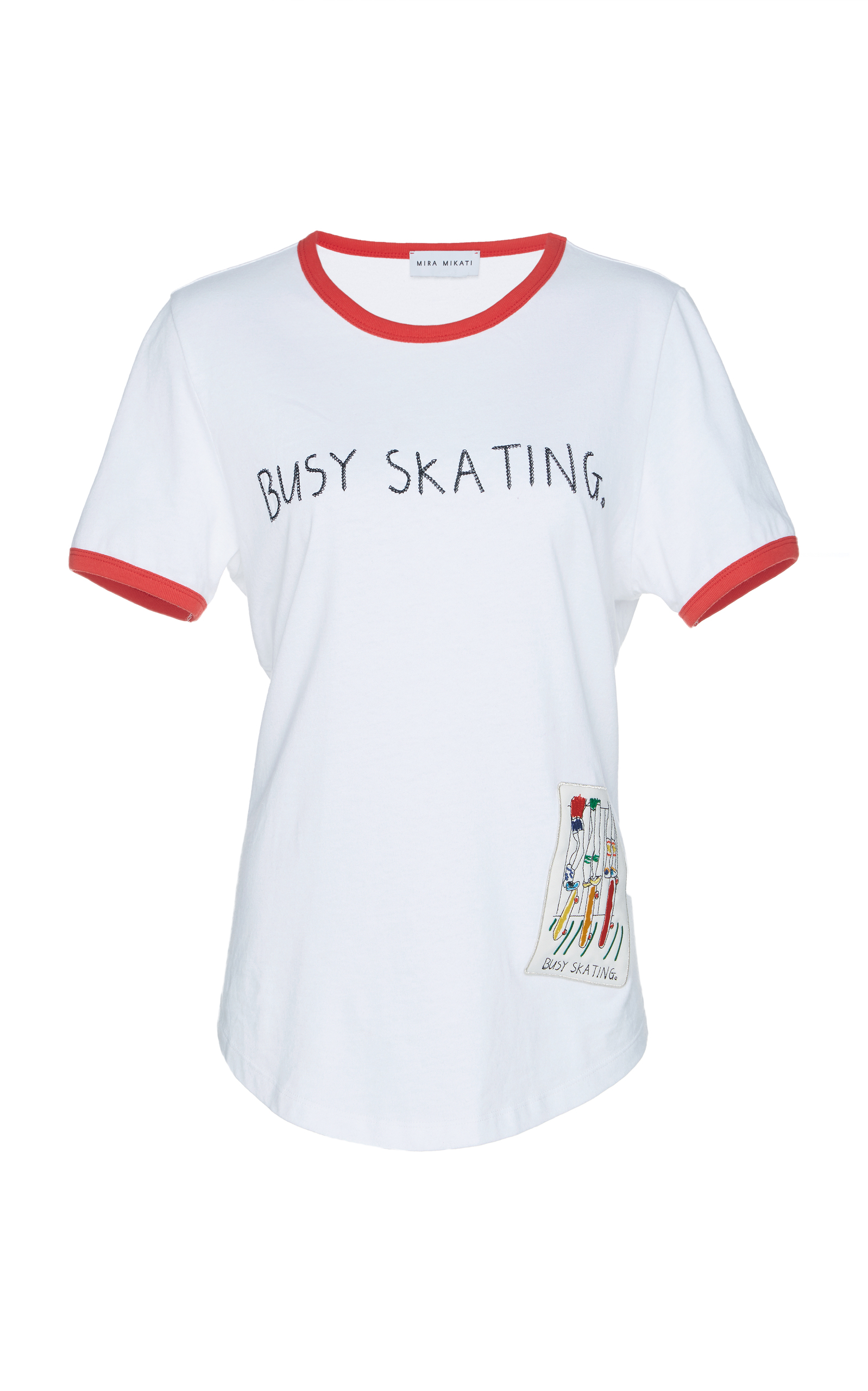 Busy Skating Cotton T-Shirt, White