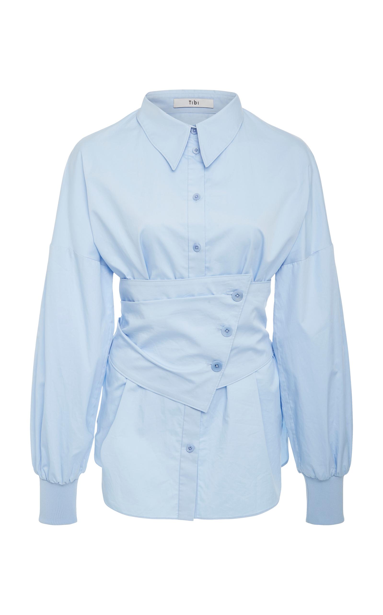 43c61c1af7779 Satin Poplin Detachable Corset Shirt by Tibi