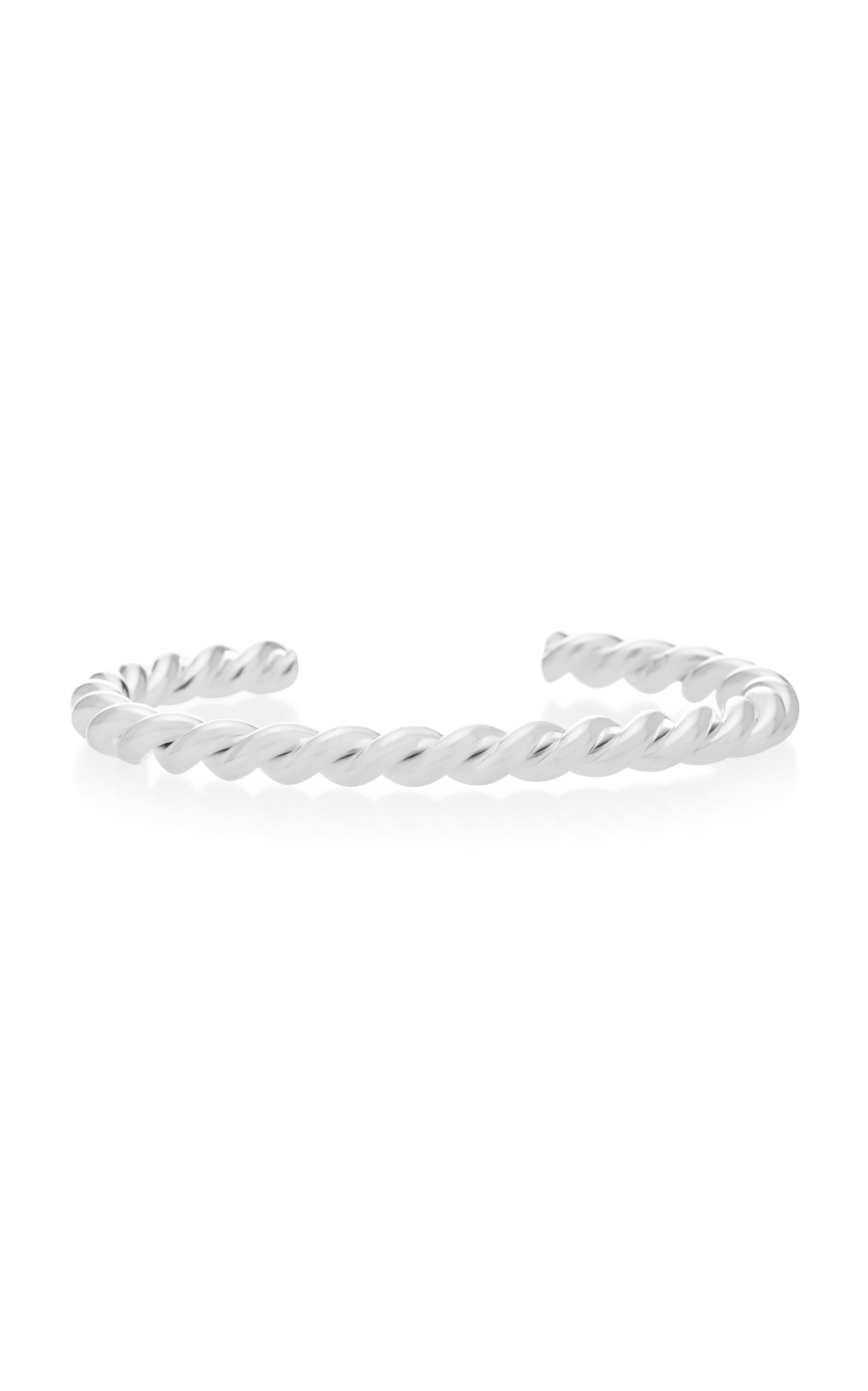 ISABEL LENNSE STERLING SILVER TWISTED CUFF BRACELET