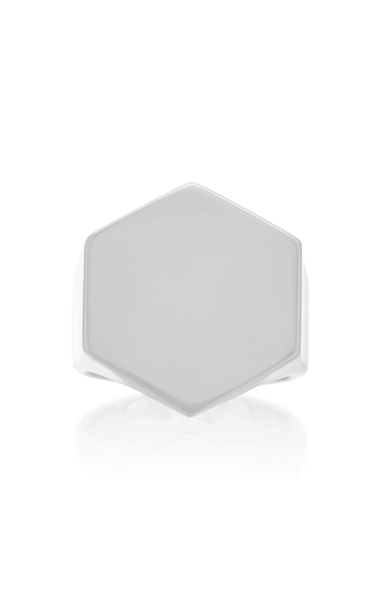 ISABEL LENNSE STERLING SILVER HEXAGON SIGNET RING