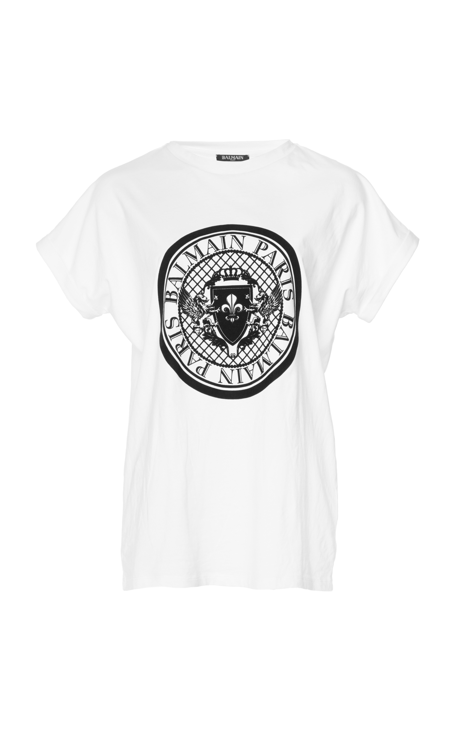 Discount 100% Authentic Balmain logo crest T-shirt Explore Outlet Inexpensive Under 50 Dollars Inexpensive For Sale Ir19D3hS