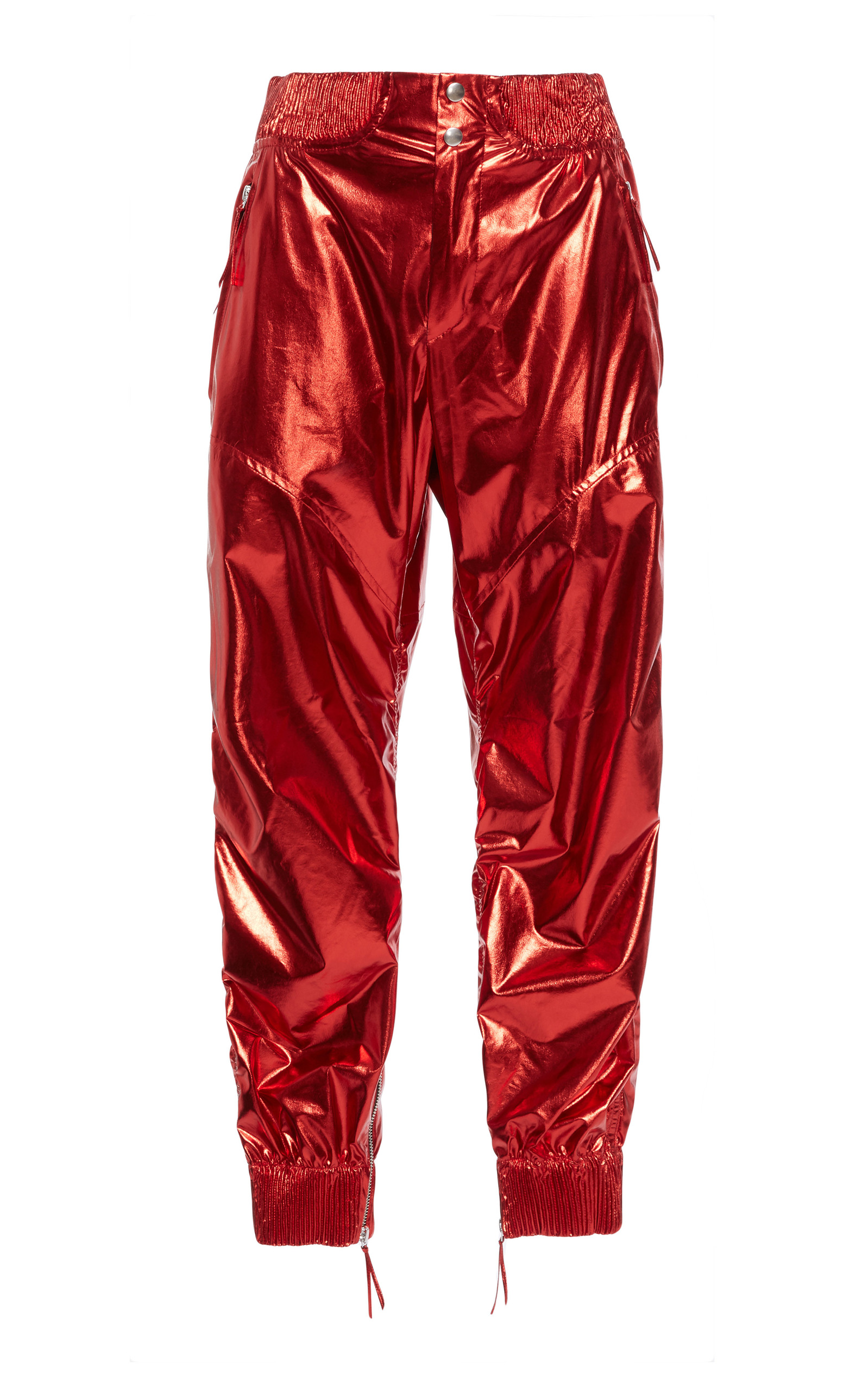 metallic button trousers - Red Isabel Marant