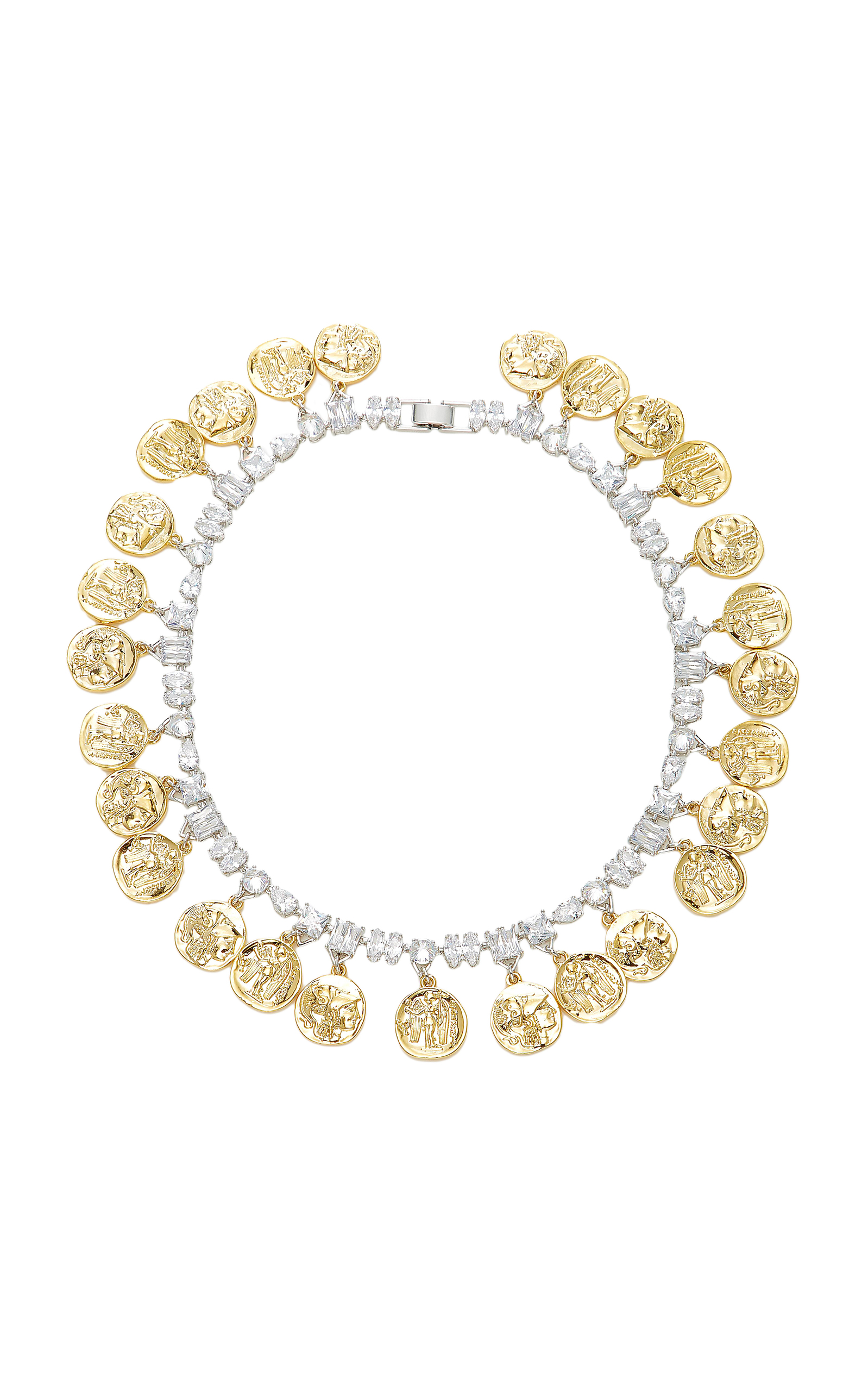 Gold-Tone Pave Crystal Choker Fallon 12zMed