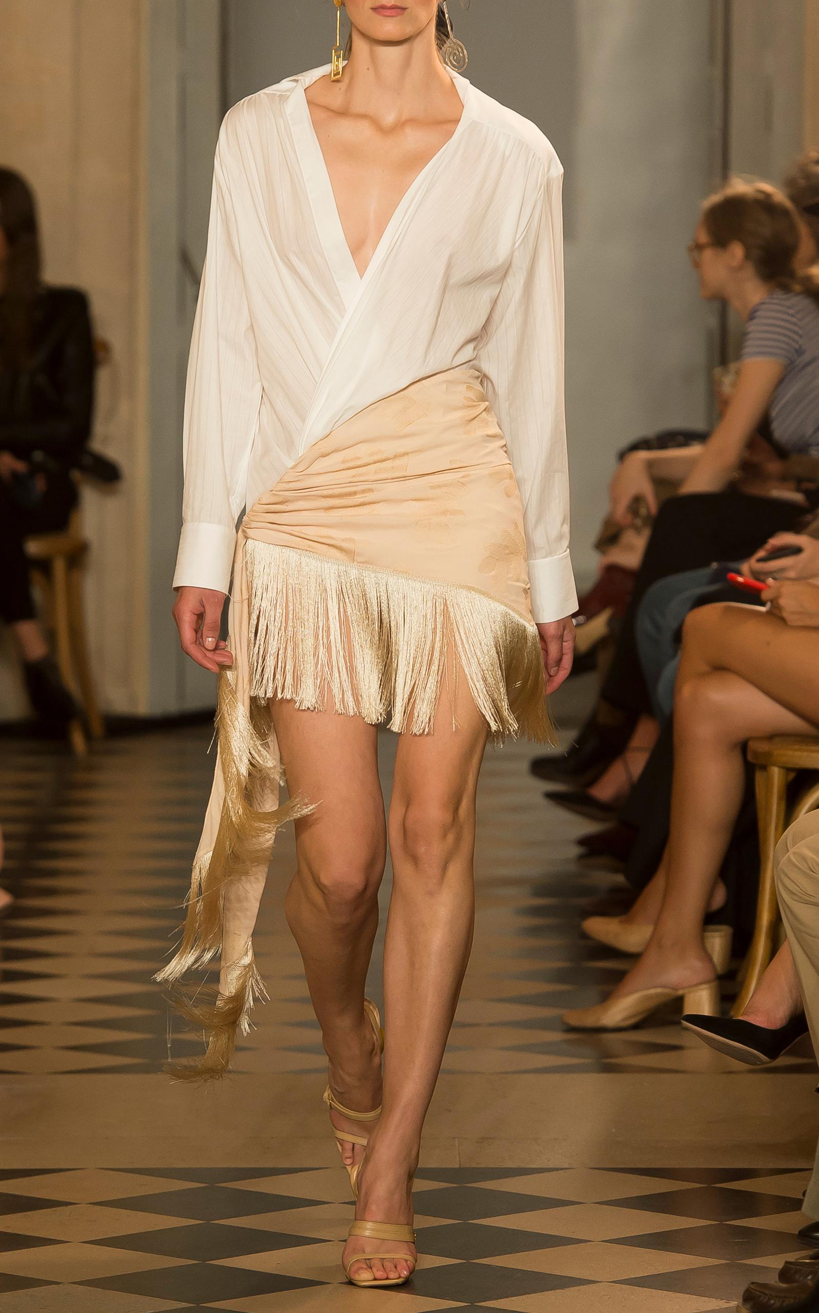 Jacquemus Fringe Hem Pareo Skirt Offres À Bas Prix jO7eoZUh
